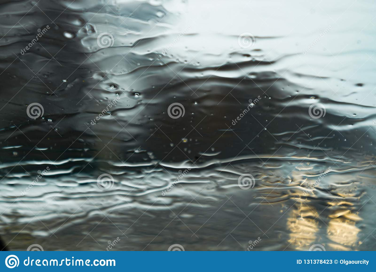 Влажные дождливые серые обои