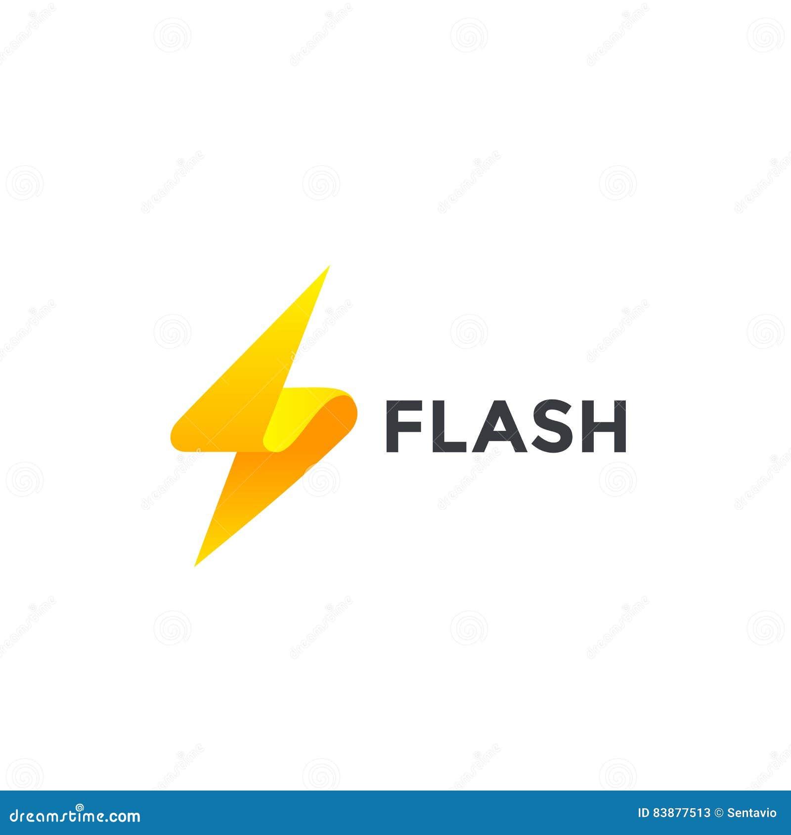 Внезапный шаблон вектора дизайна логотипа Символ Thunderbolt Концепция логотипа электрической скорости силы энергии творческая