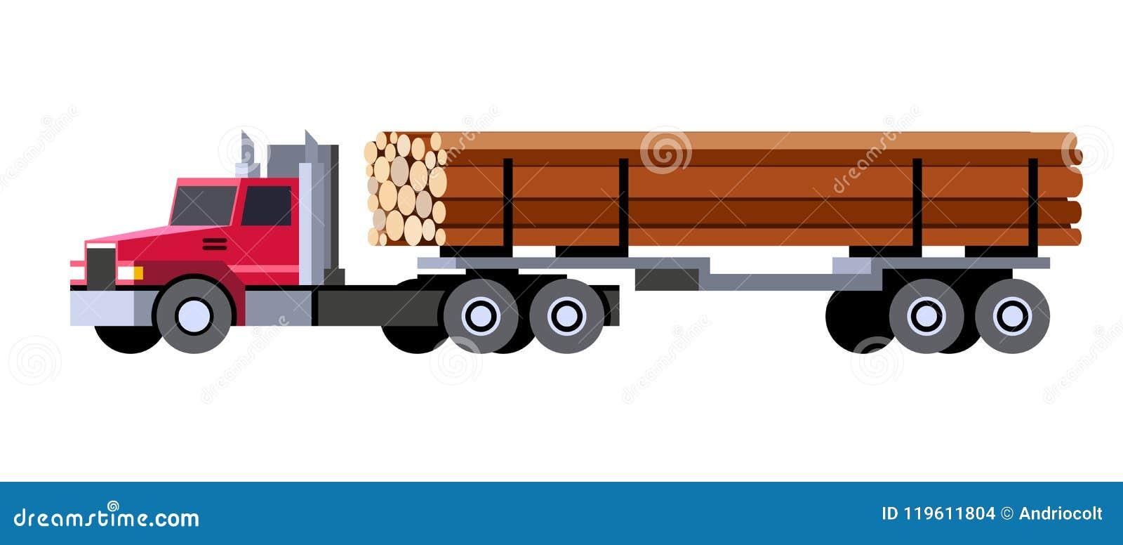 Внося в журнал тележка транспортируя деревянные журналы
