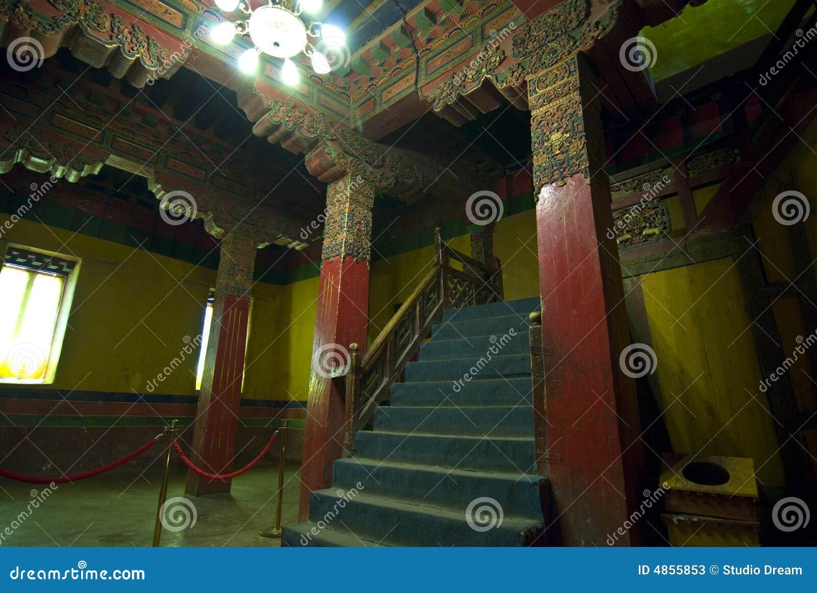 внутренний тибетец potala дворца