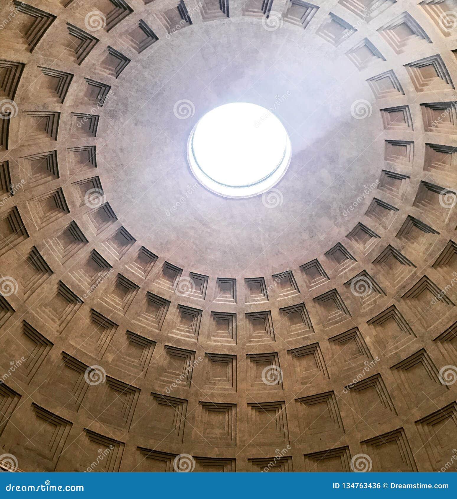 Внутри взгляда от потолка пантеона, Рим
