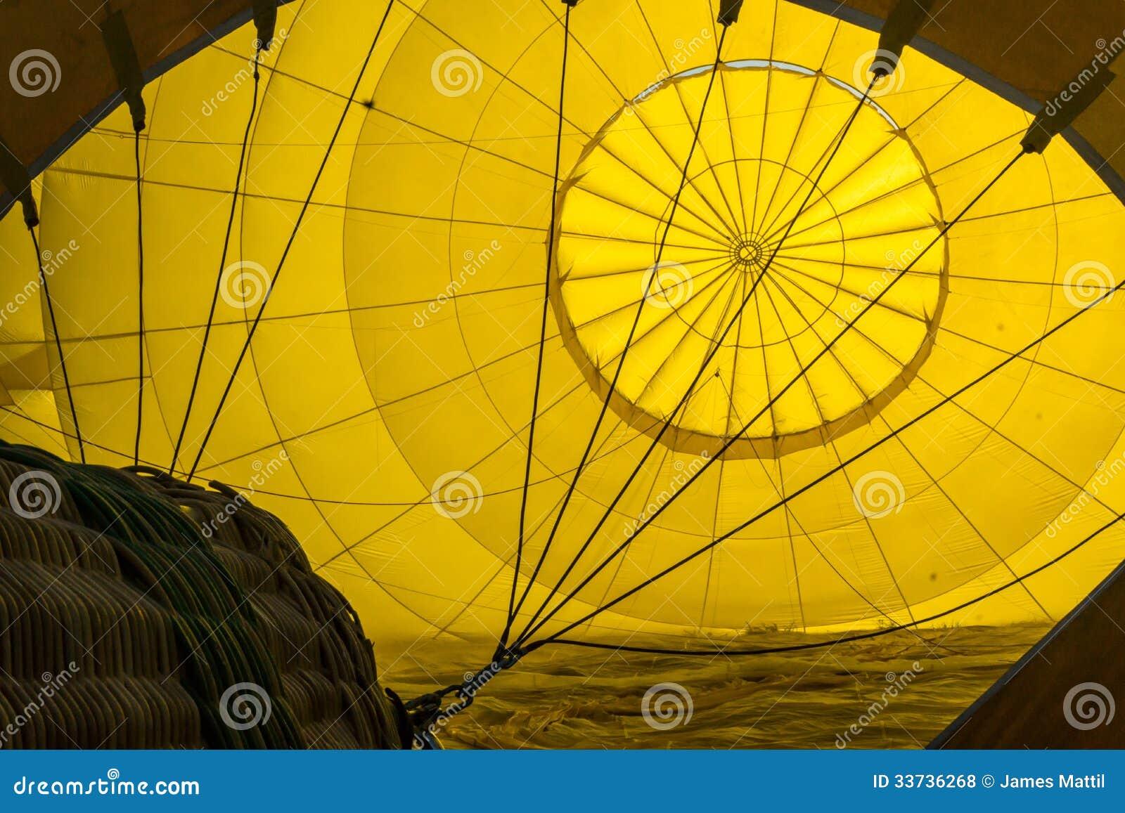 Внутри горячего воздушного шара