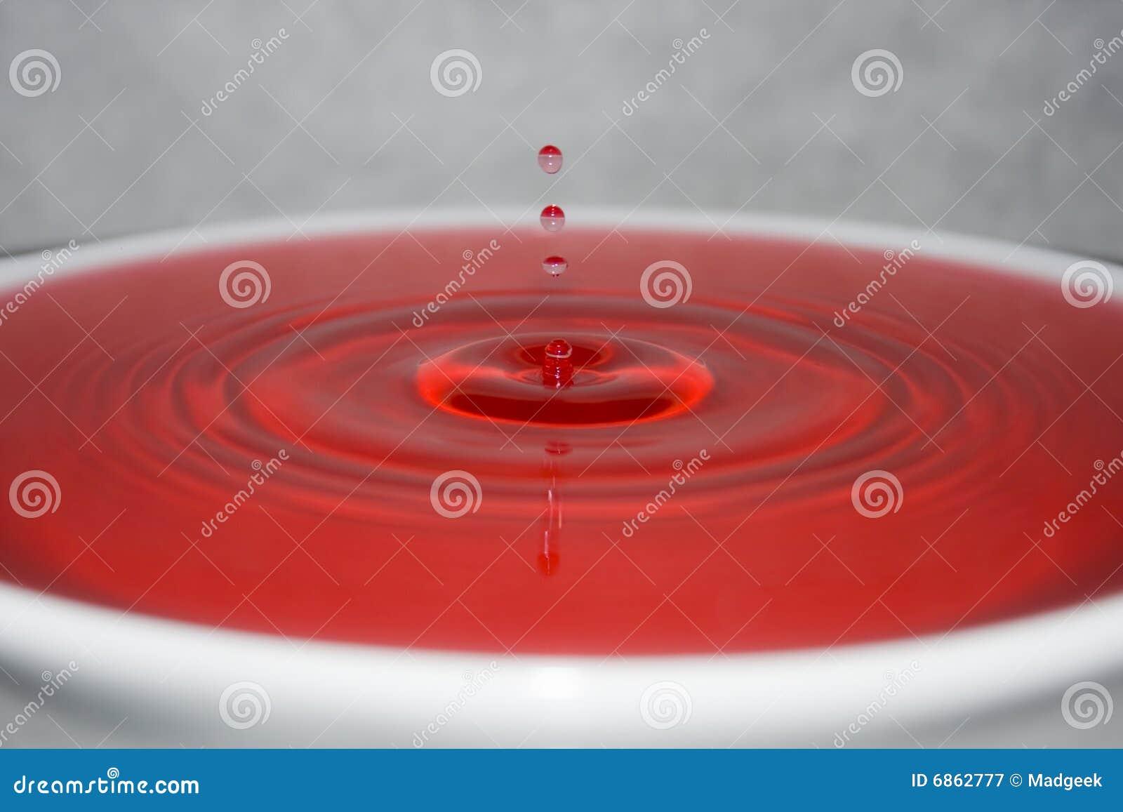 вода капельки красная
