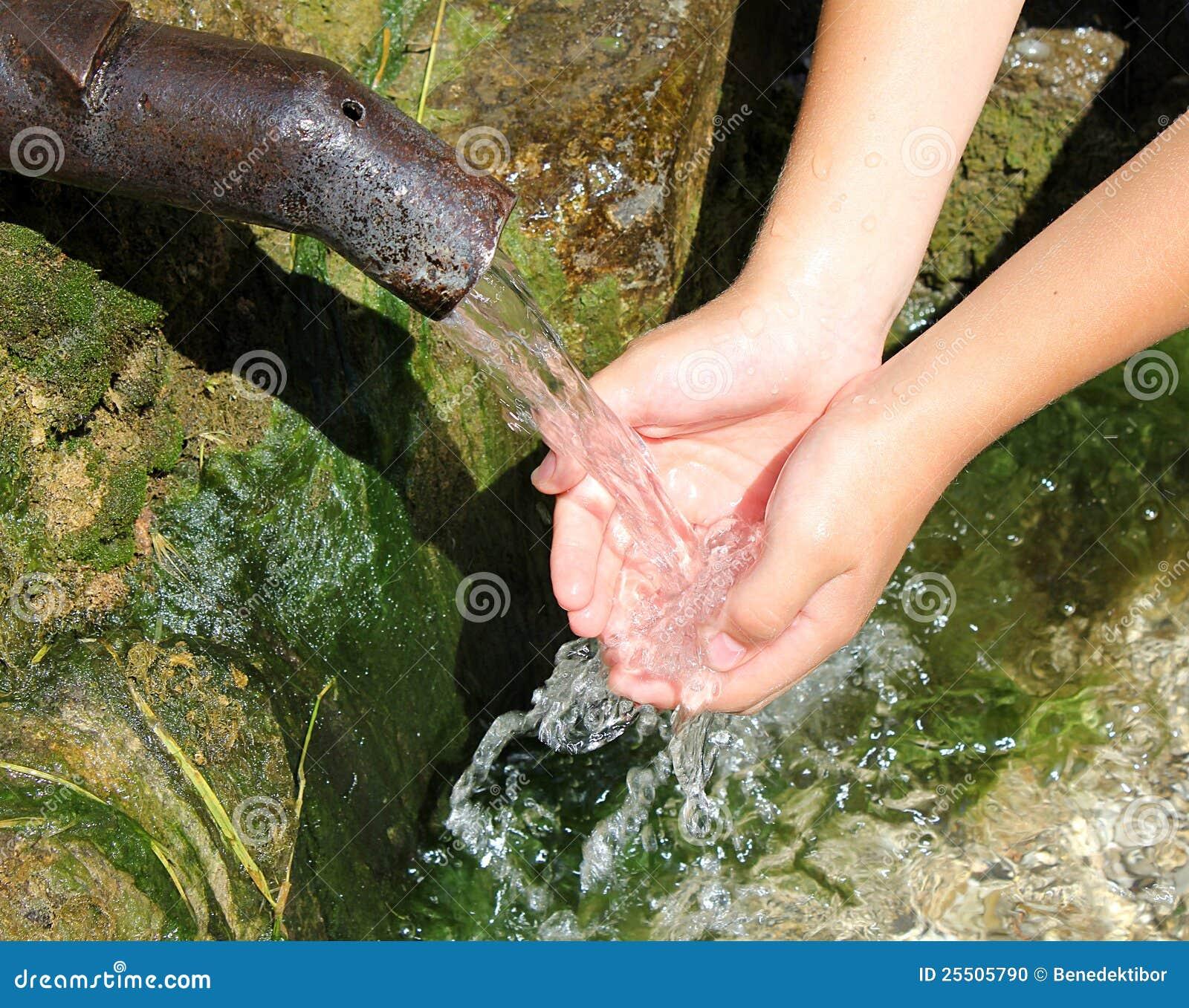 вода рук