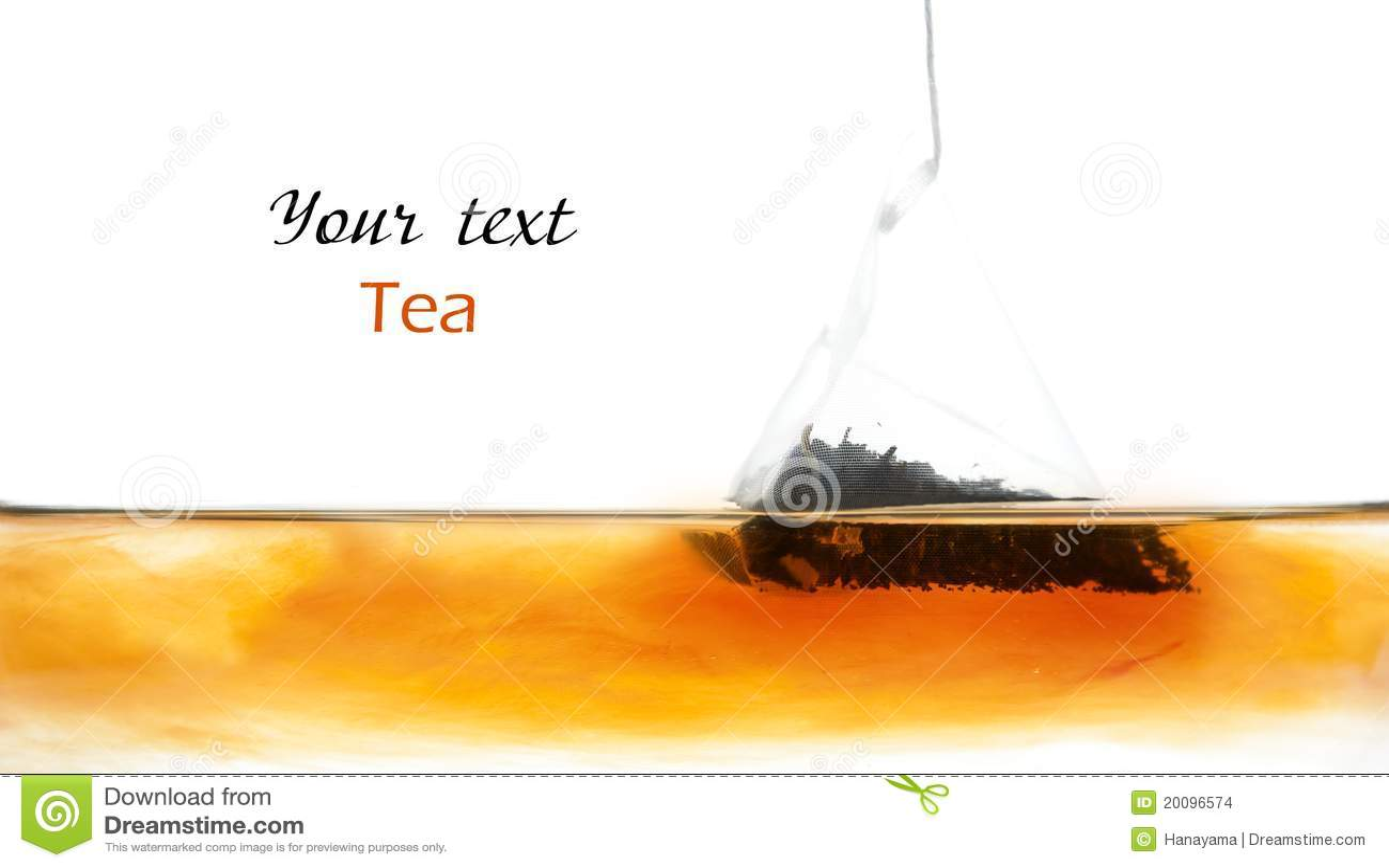 вода чая мешка