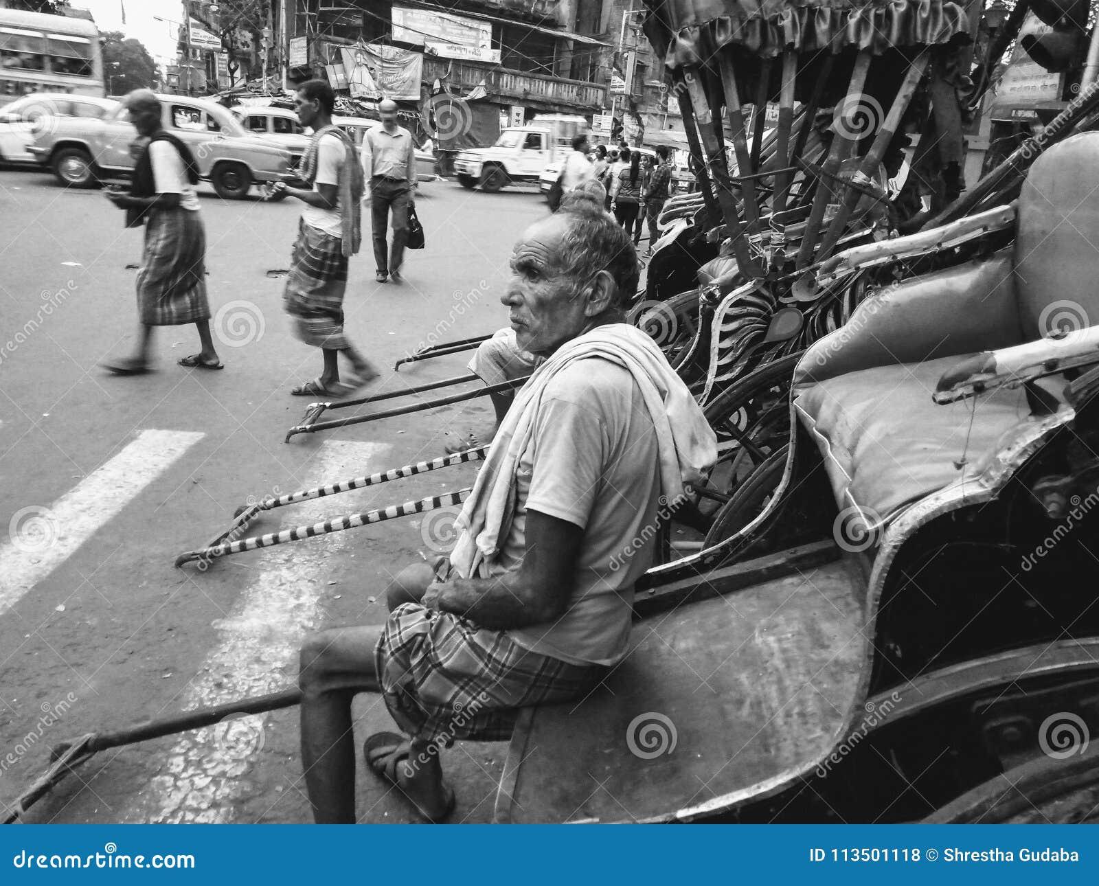 Водитель рикши в Kolkata