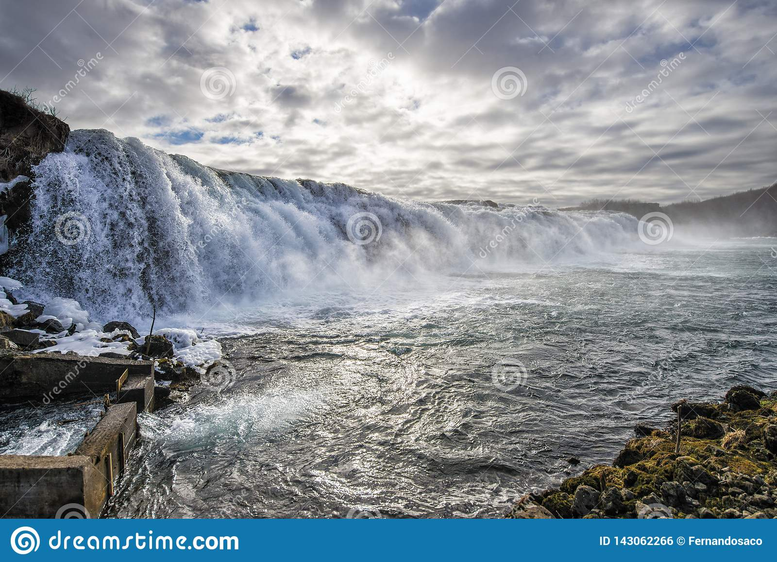 Водопад в семге удя реку