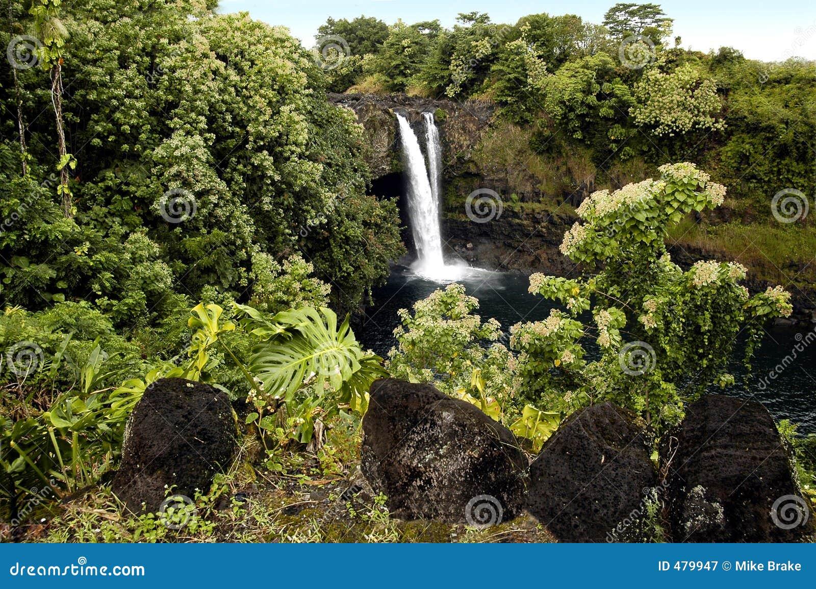 водопад острова