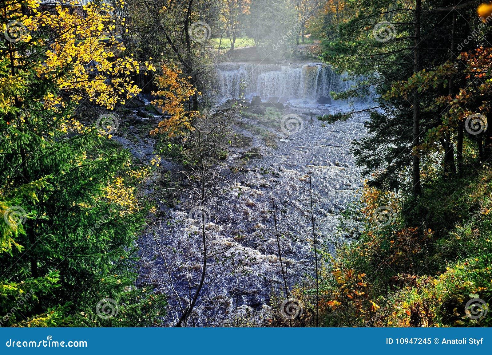 водопад пущи
