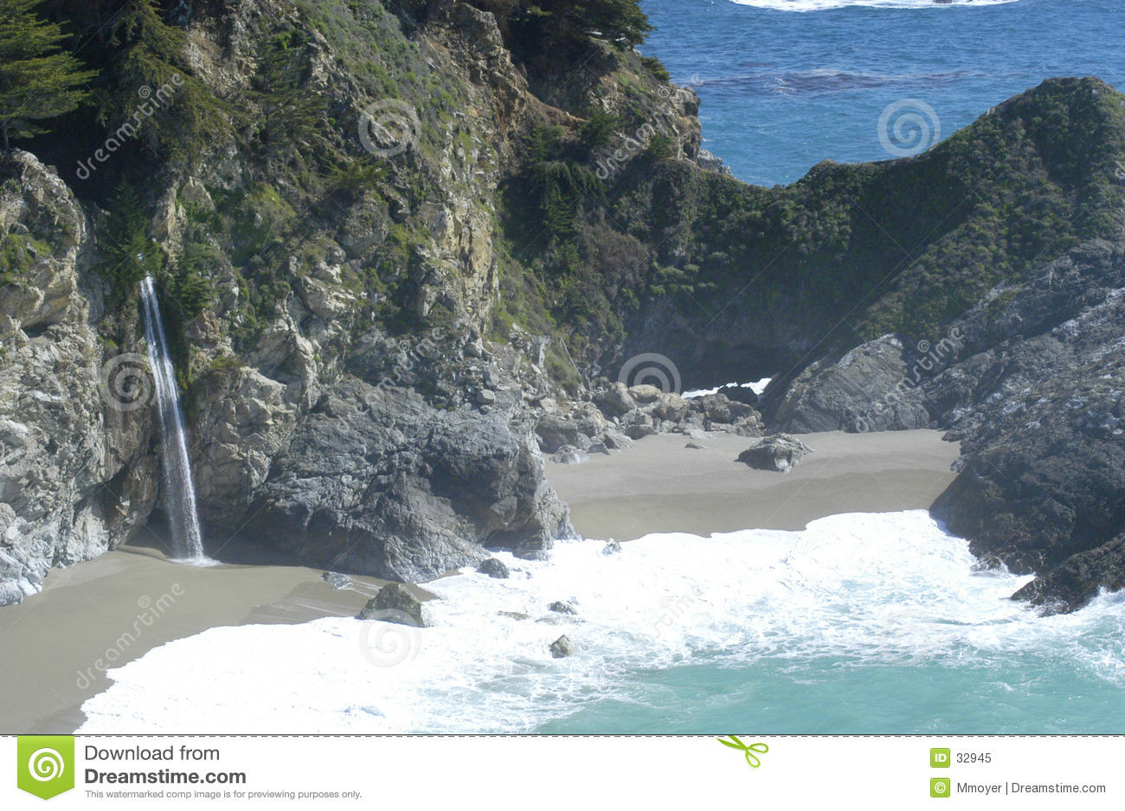 водопад свободного полета california