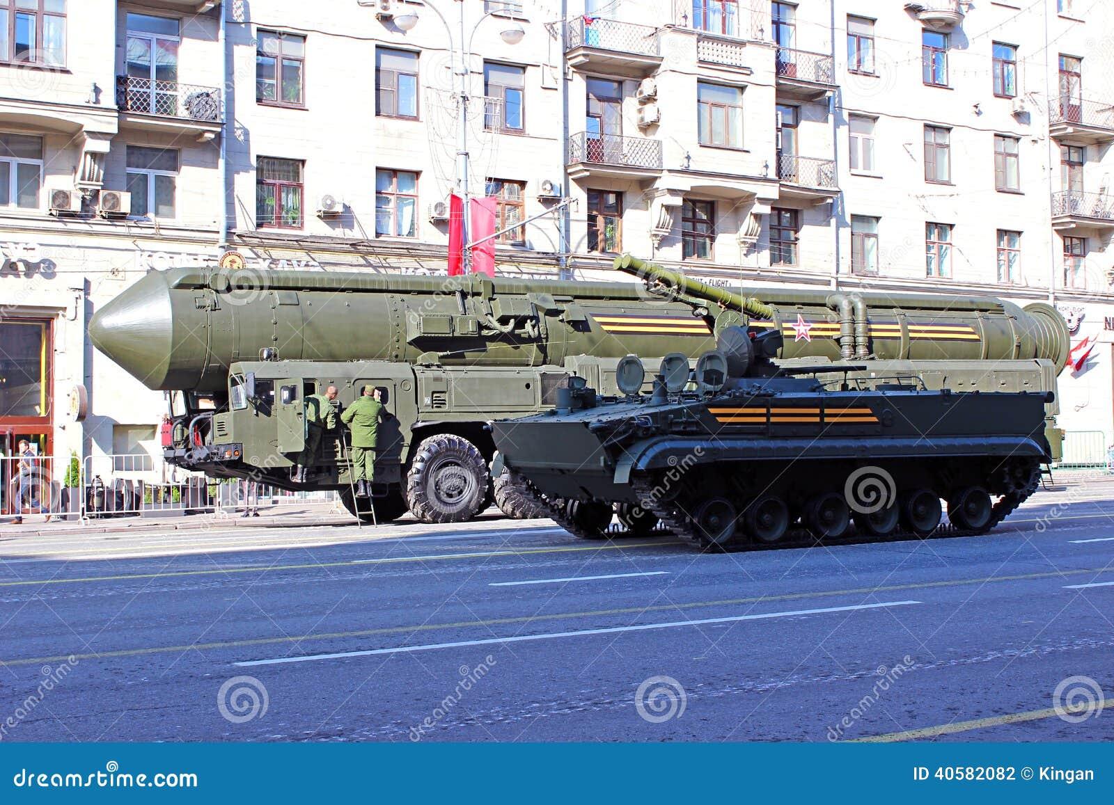 Военный парад предназначил к дню победы в Второй Мировой Войне в Mosc