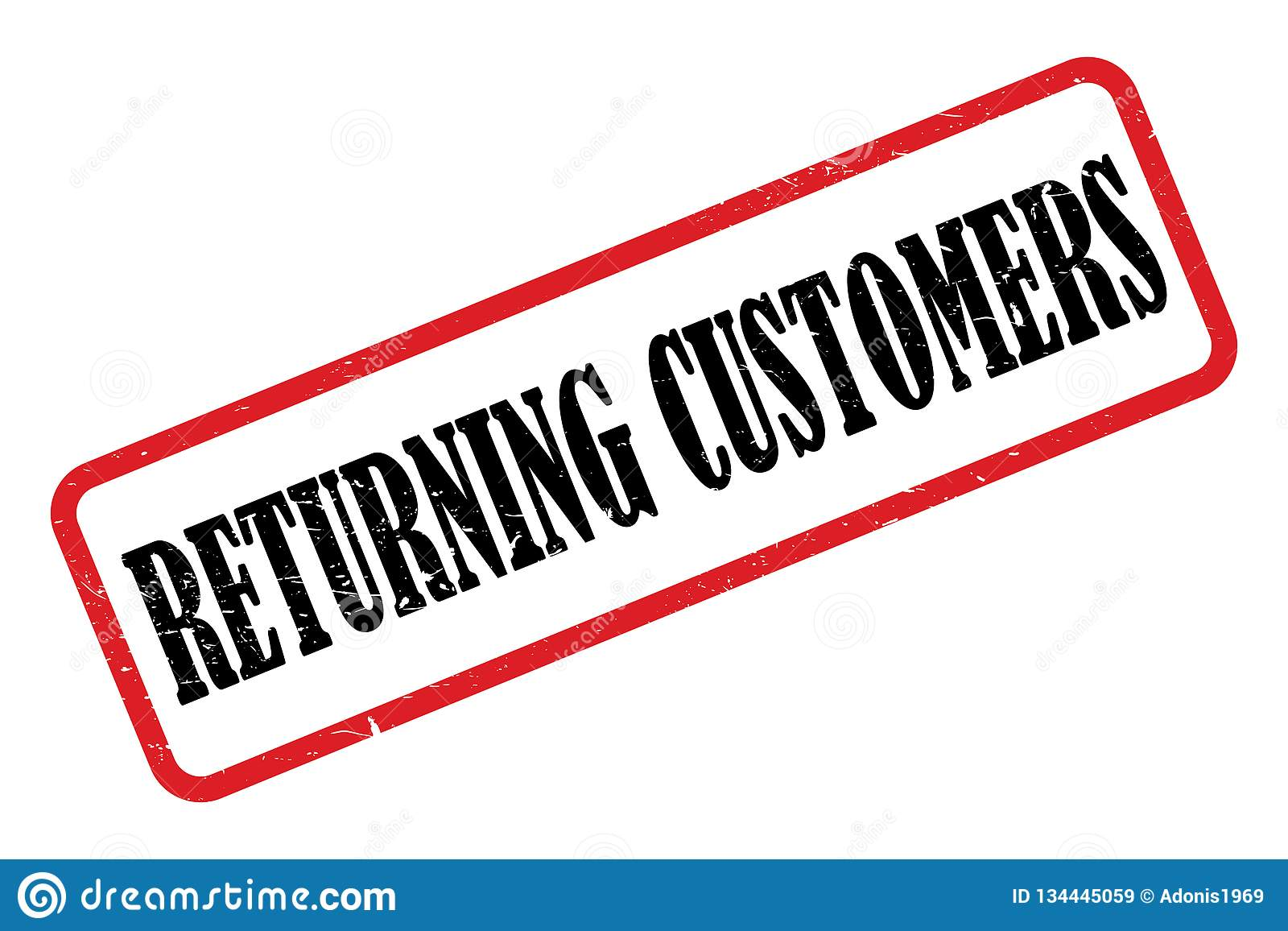 Возвращающ клиенты штемпелюют