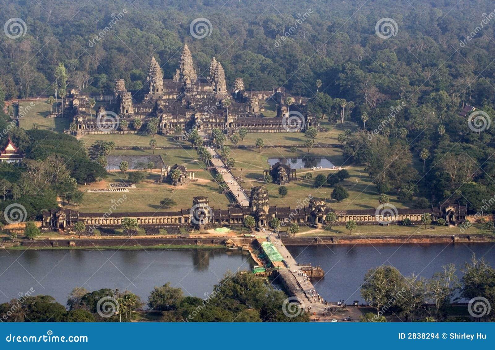 воздушное wat взгляда angkor