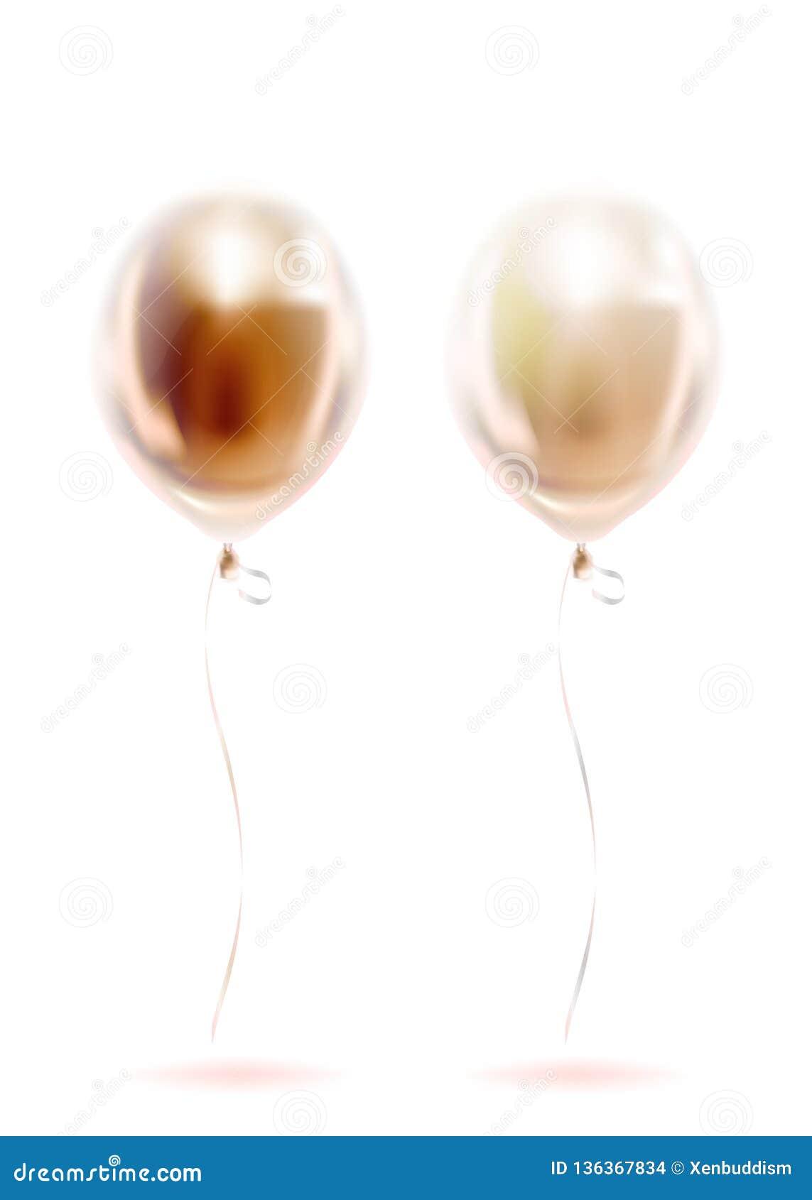 Воздушные шары сусального золота пинка прозрачные, золотая сфера Торжество дня рождения изображения, социальная партия и все собы