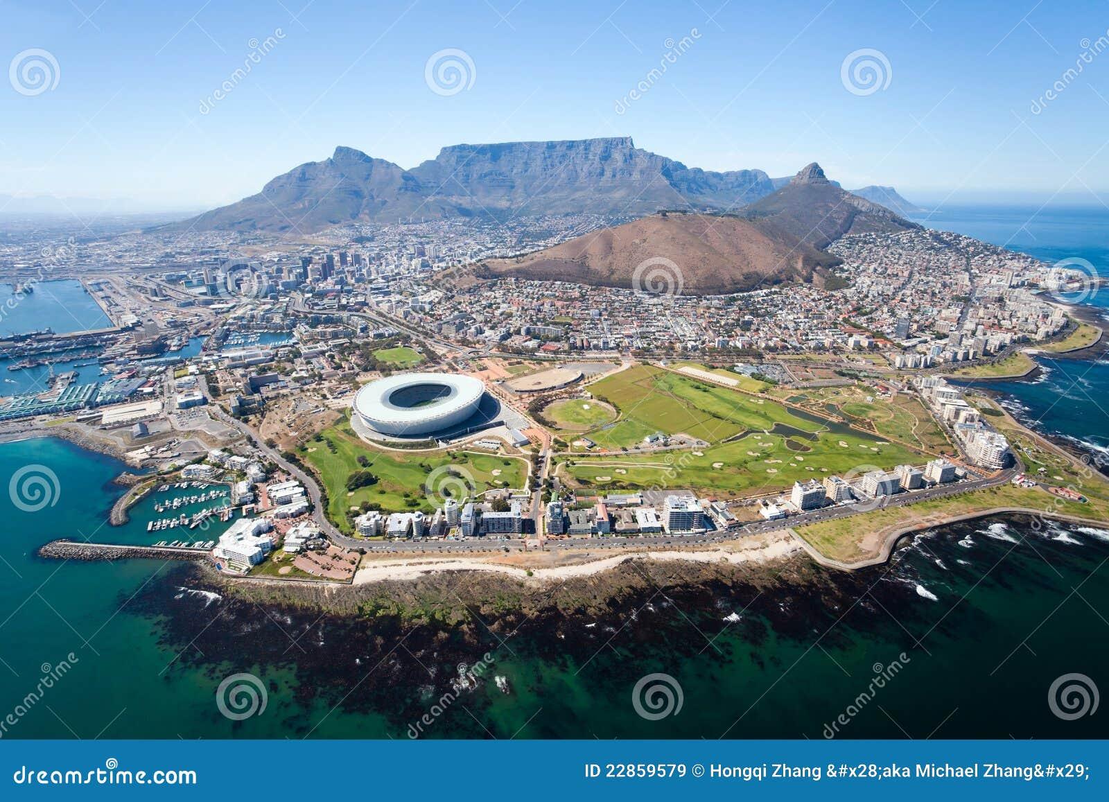 воздушный взгляд Cape Town