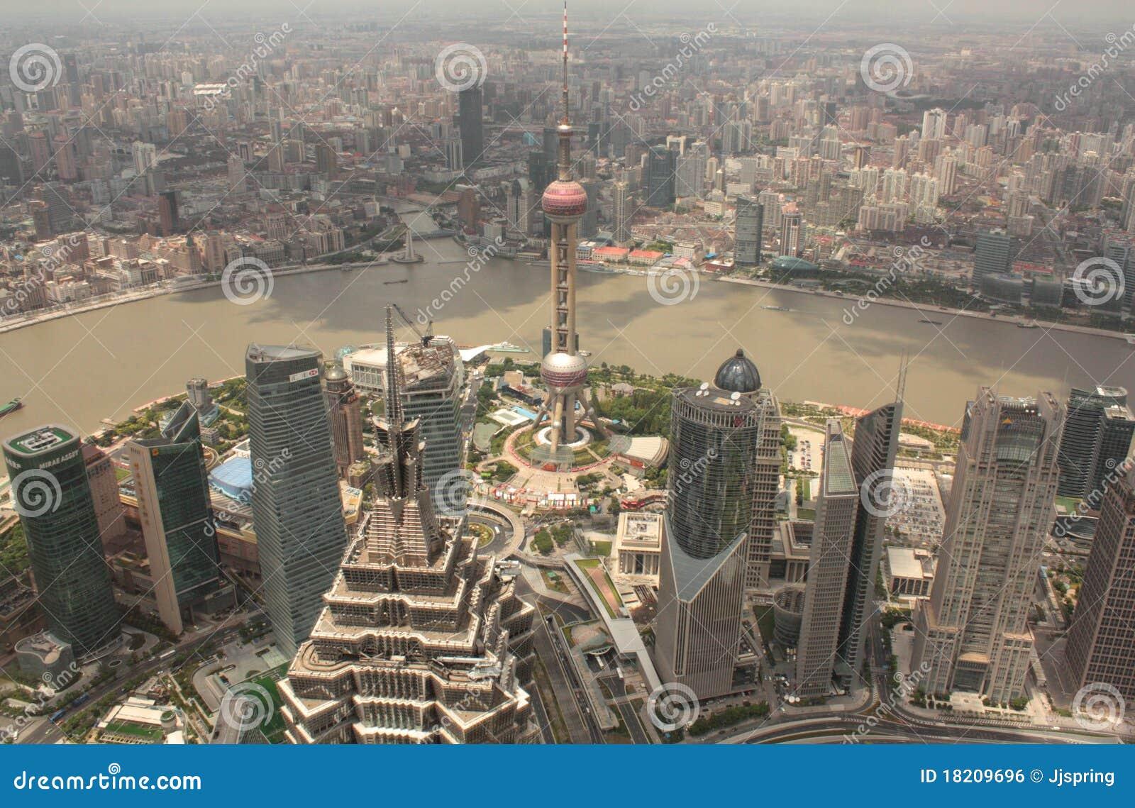 воздушный взгляд shanghai pudong