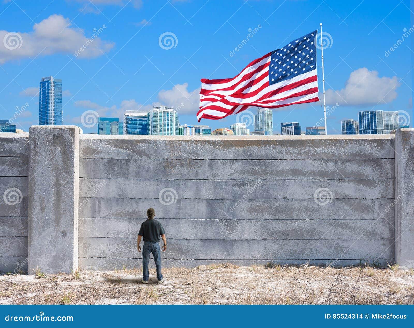 Возможная стена между Соединенными Штатами Америки и Мексикой и миром