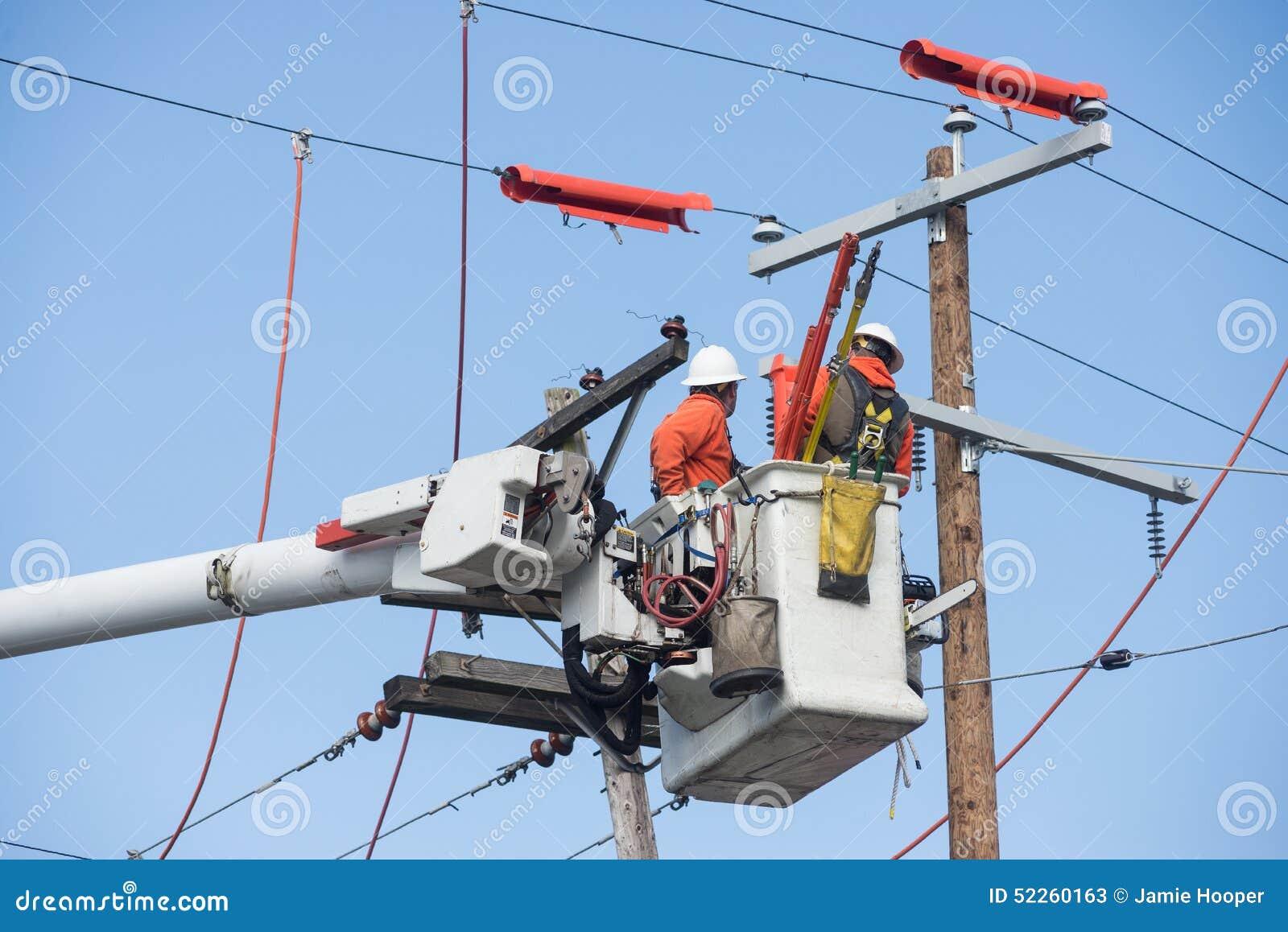 Воздушные работники powerline