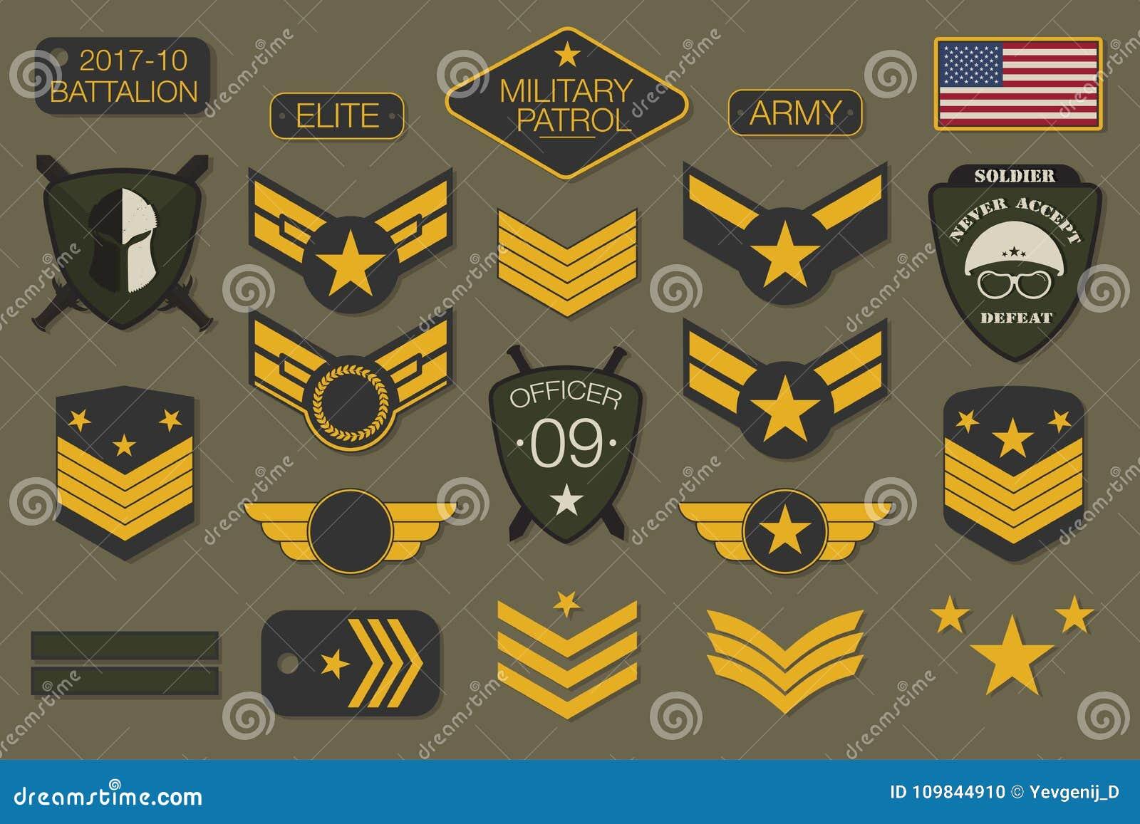 Воинские значки и оформление заплат армии Воинские шеврон и штырь вышивки конструируют для графика футболки