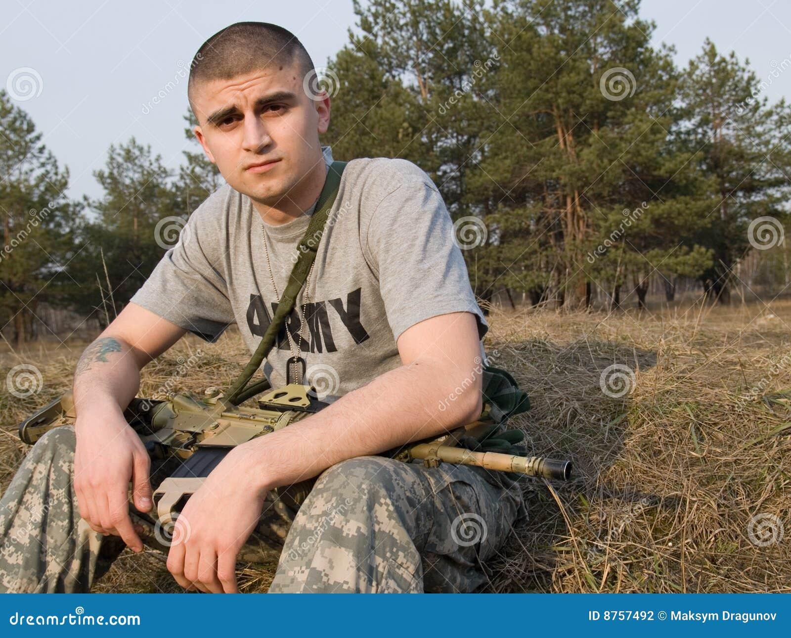 воин США
