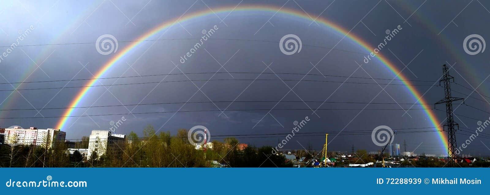 Download двойная радуга стоковое изображение. изображение насчитывающей двойник - 72288939