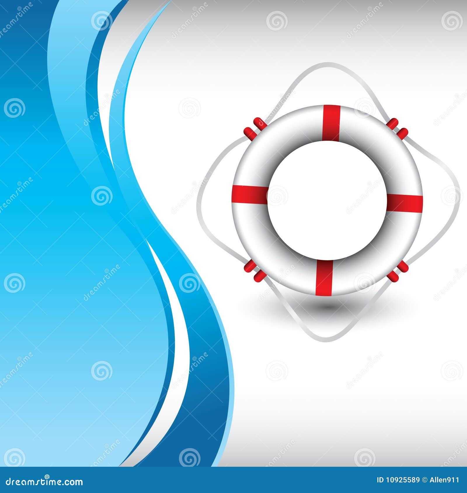 волна кольца жизни предпосылки голубая вертикальная