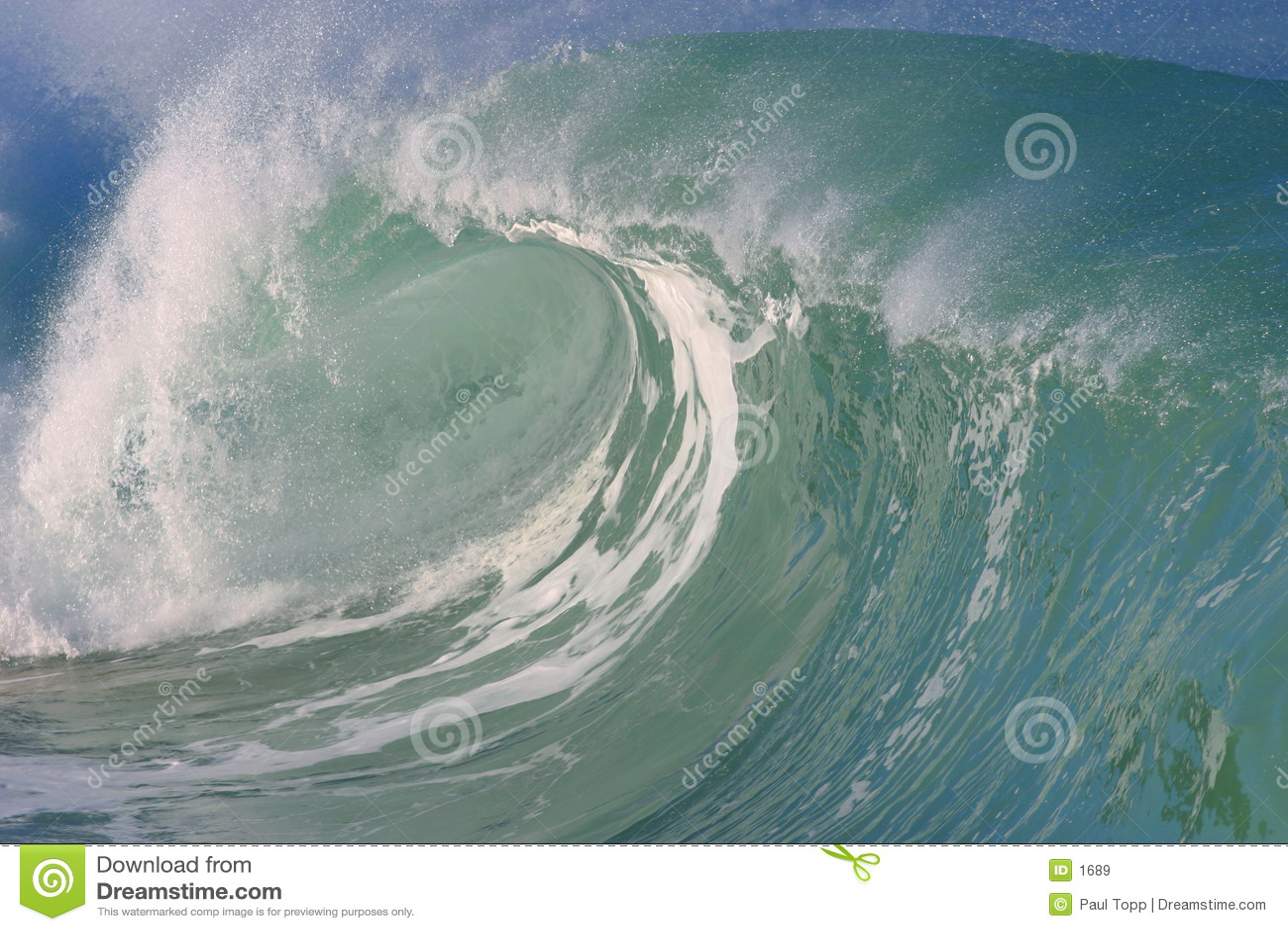 волна waimea Гавайских островов залива