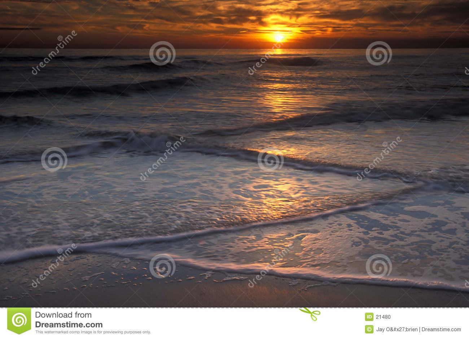 волны захода солнца