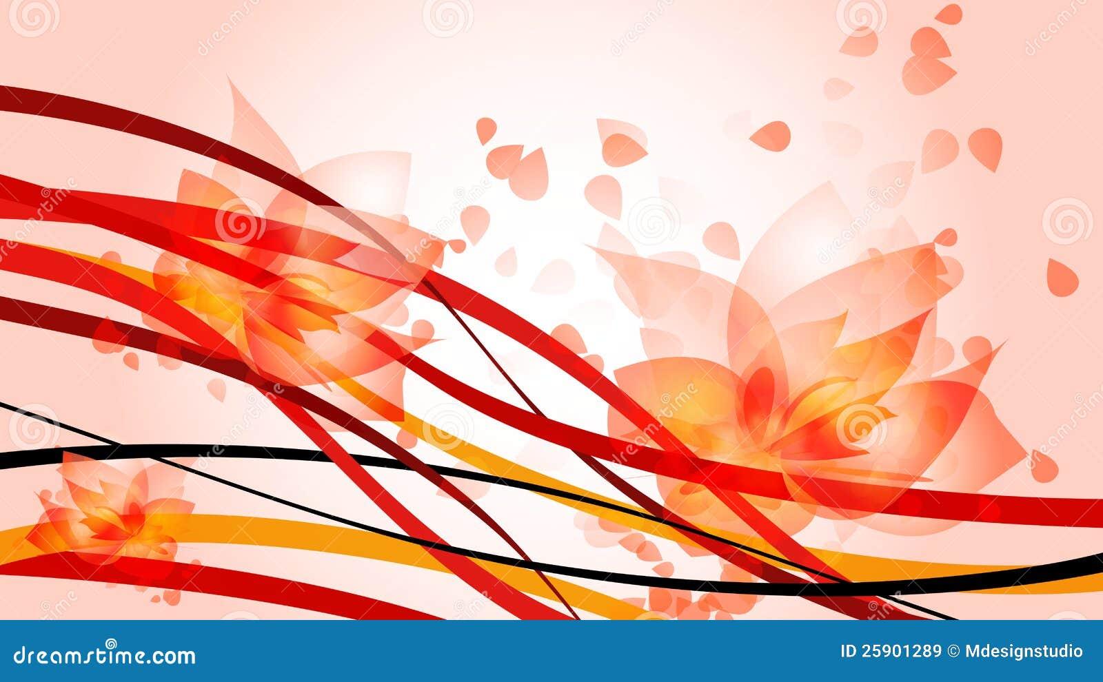 Волны красного цвета HD