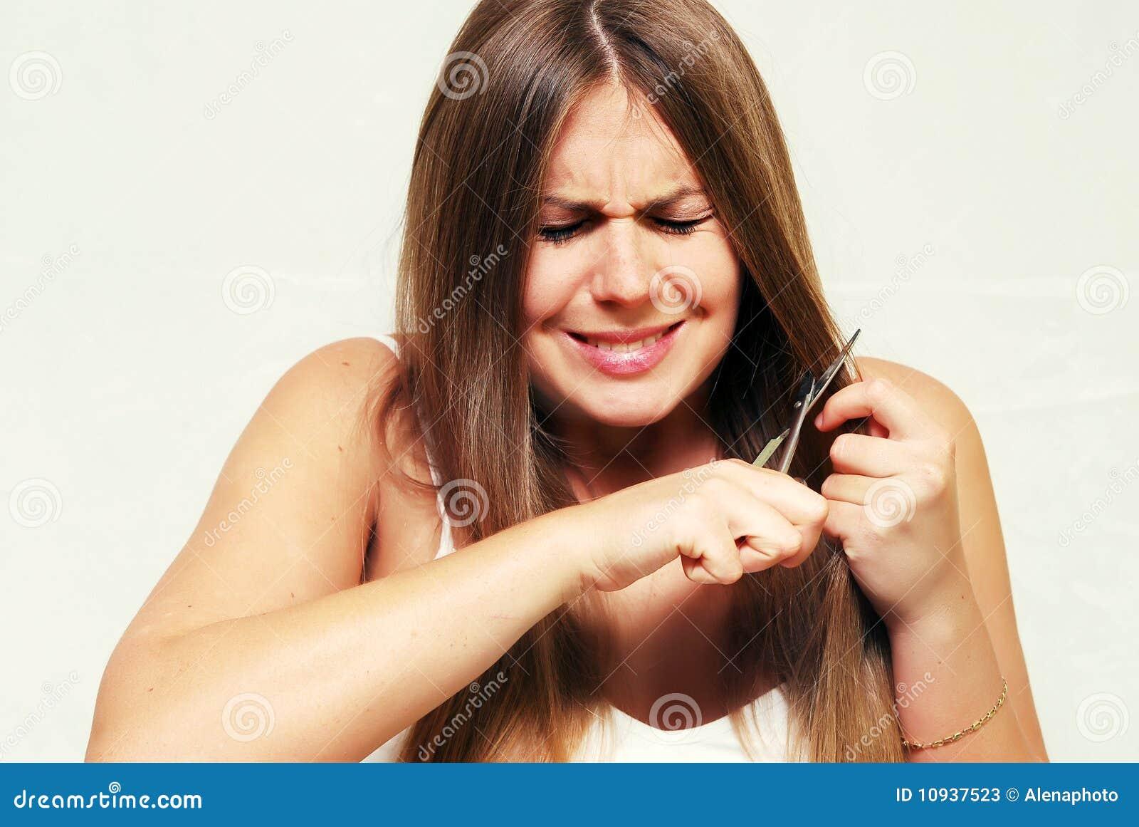 волосы вырезывания