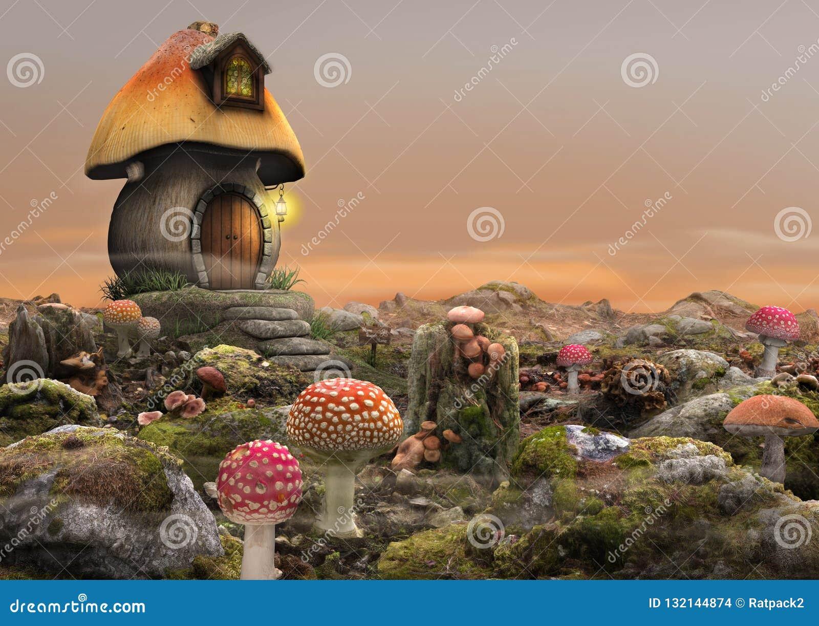 Волшебная фантазия дома гриба феи