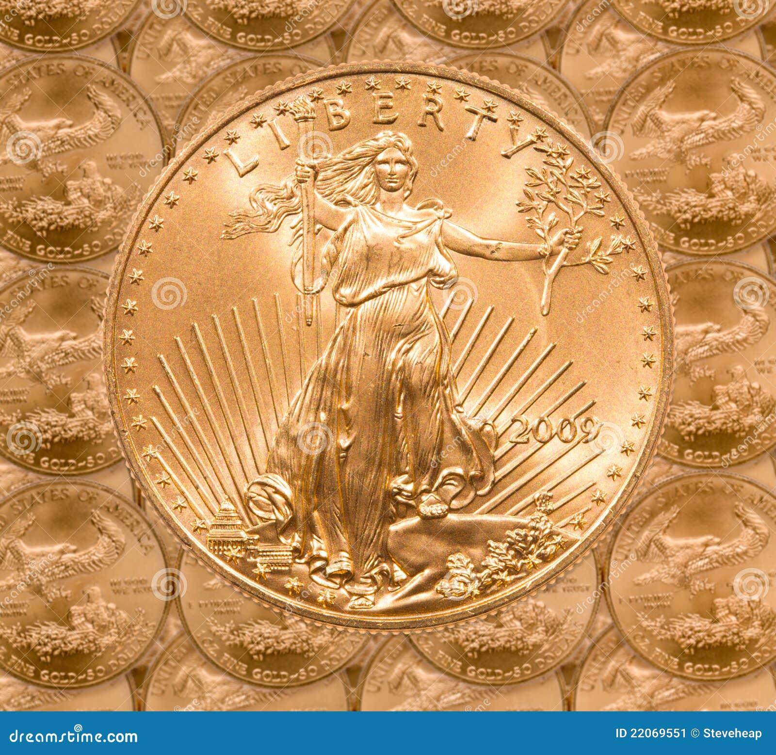 вольность золота монетки одиночная