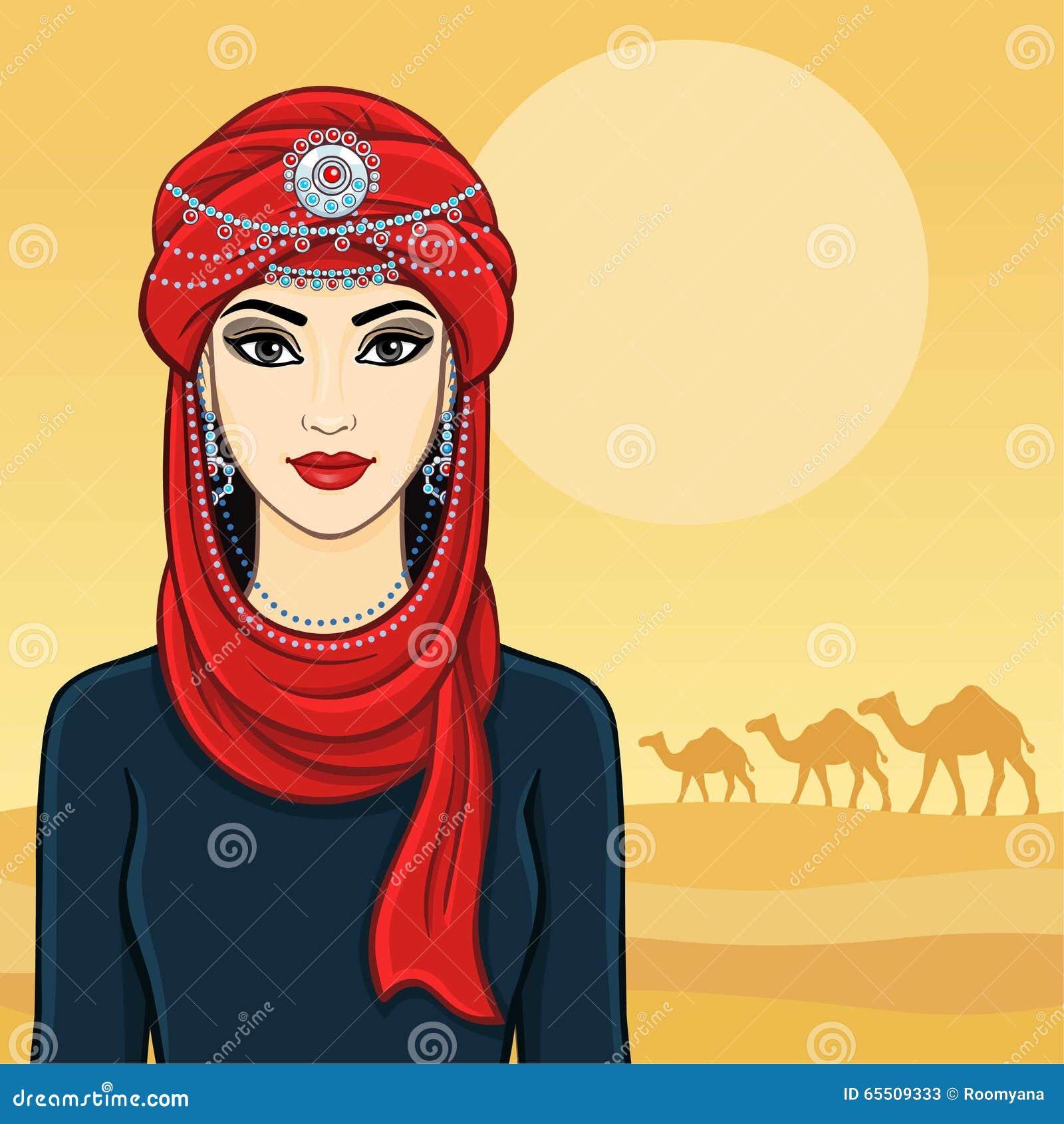 Восточная женщина в тюрбане
