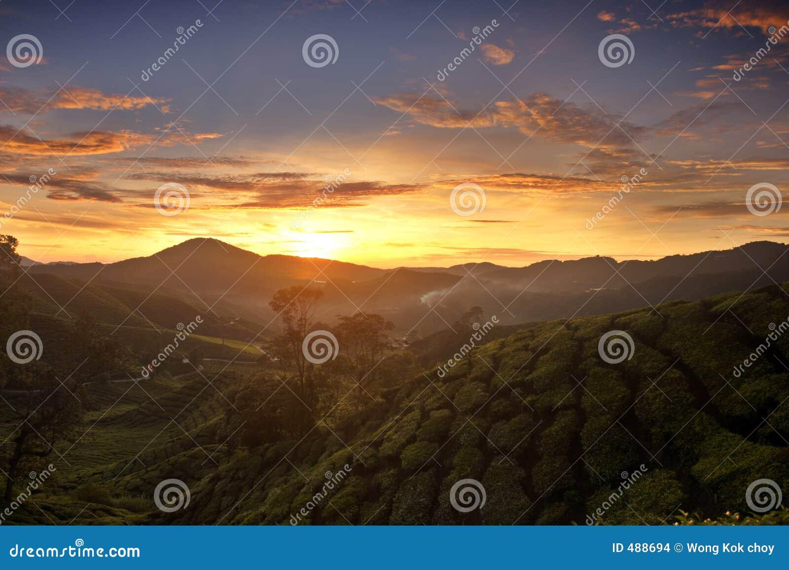 восход солнца гористых местностей cameron