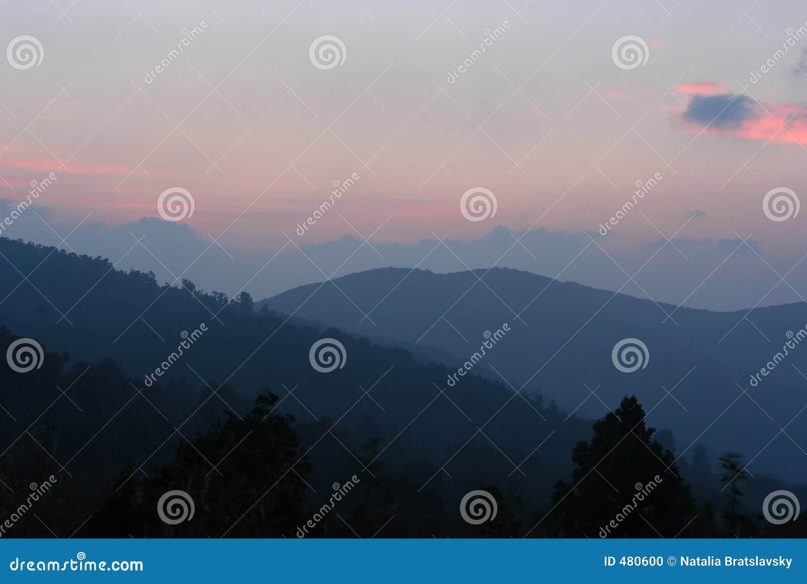 восход солнца гор
