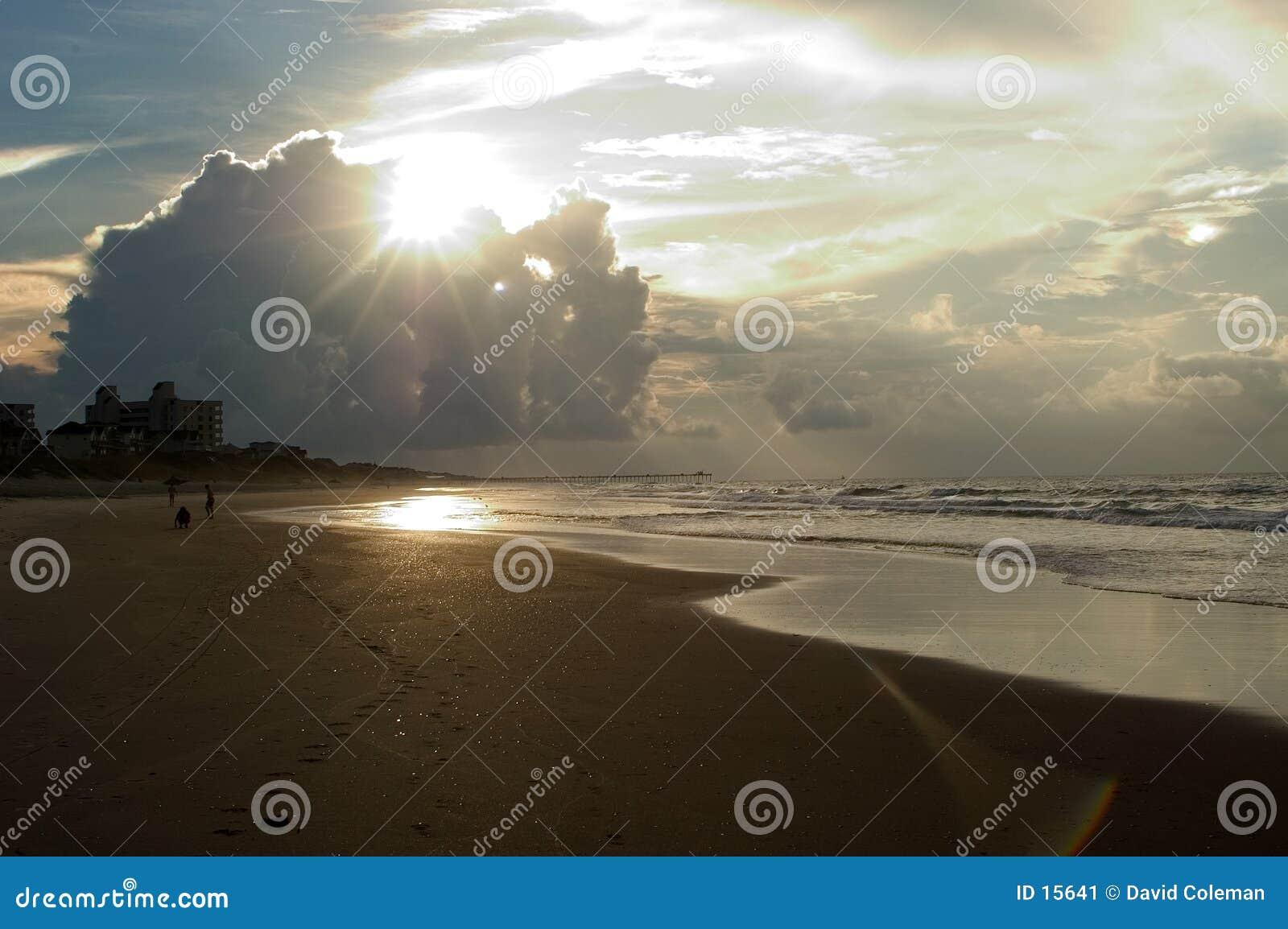 восход солнца Каролины Емералд Исле северный