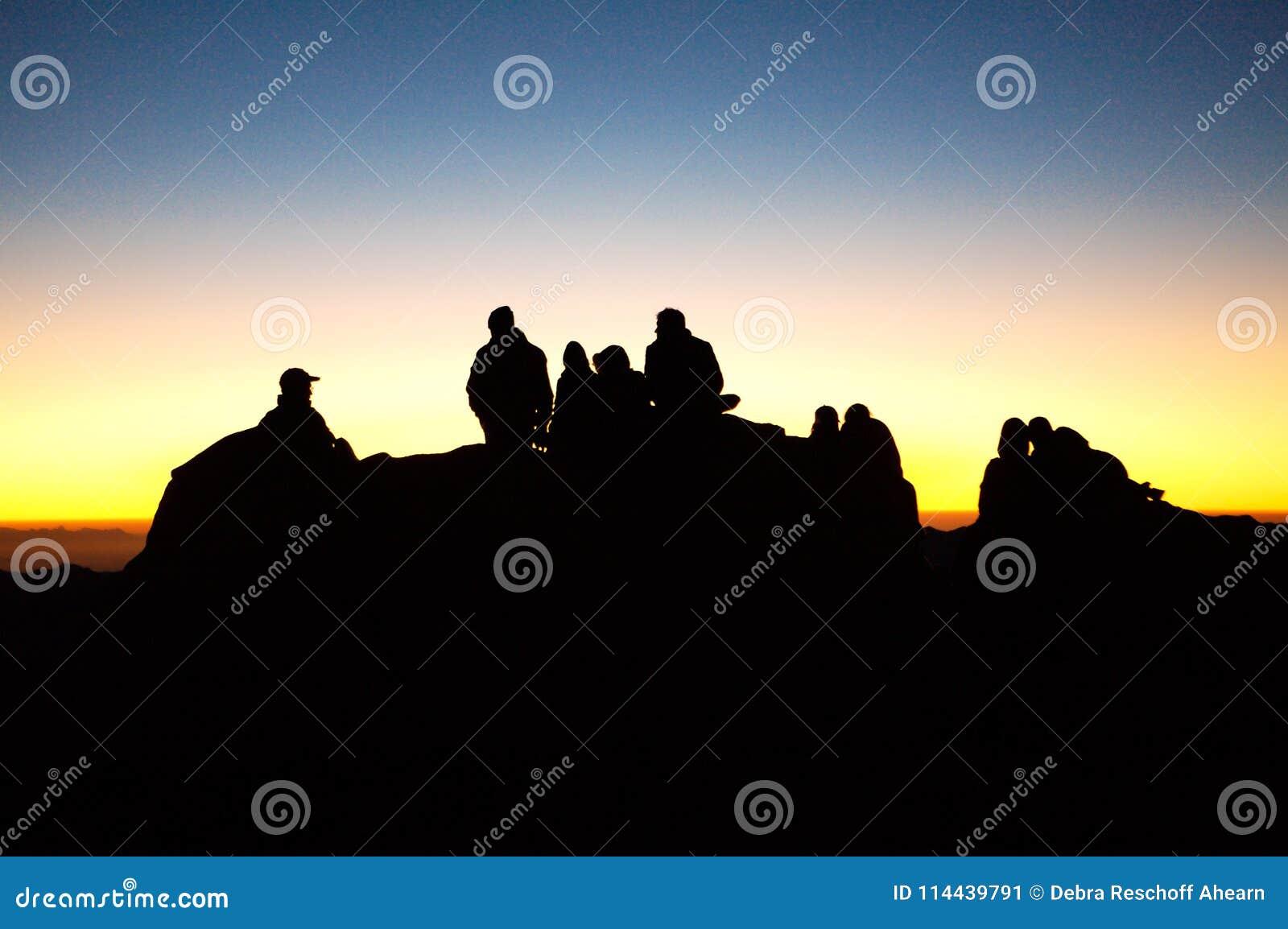 Восход солнца на горе Синай, Египте