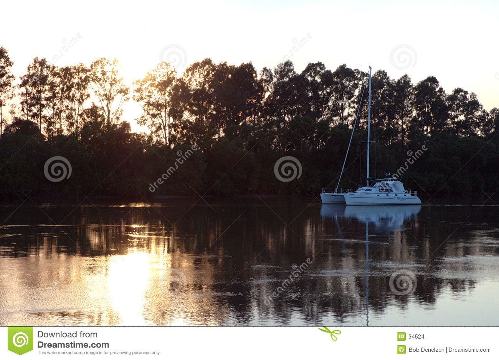 восход солнца реки
