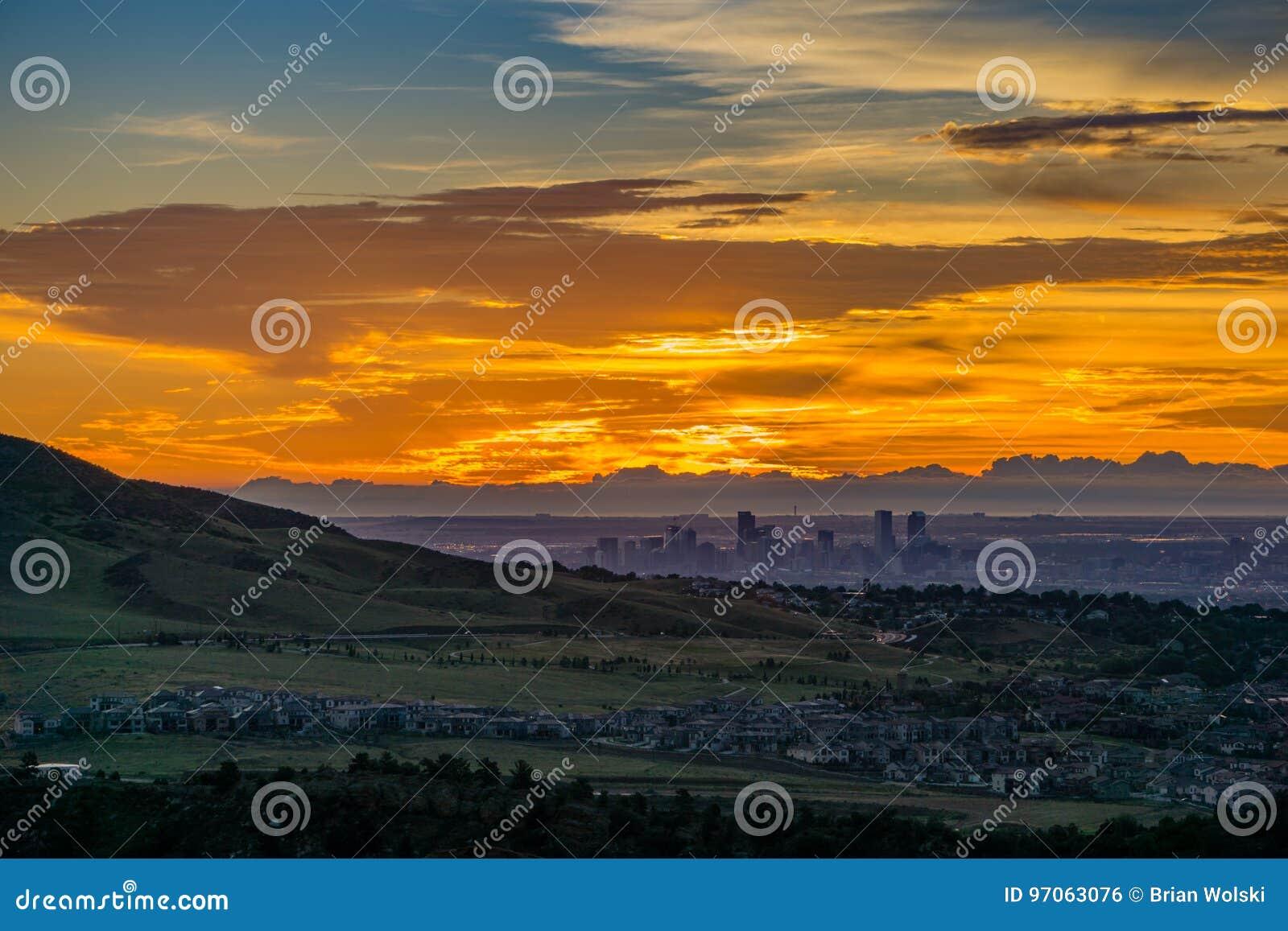 Восход солнца - Денвер, Колорадо