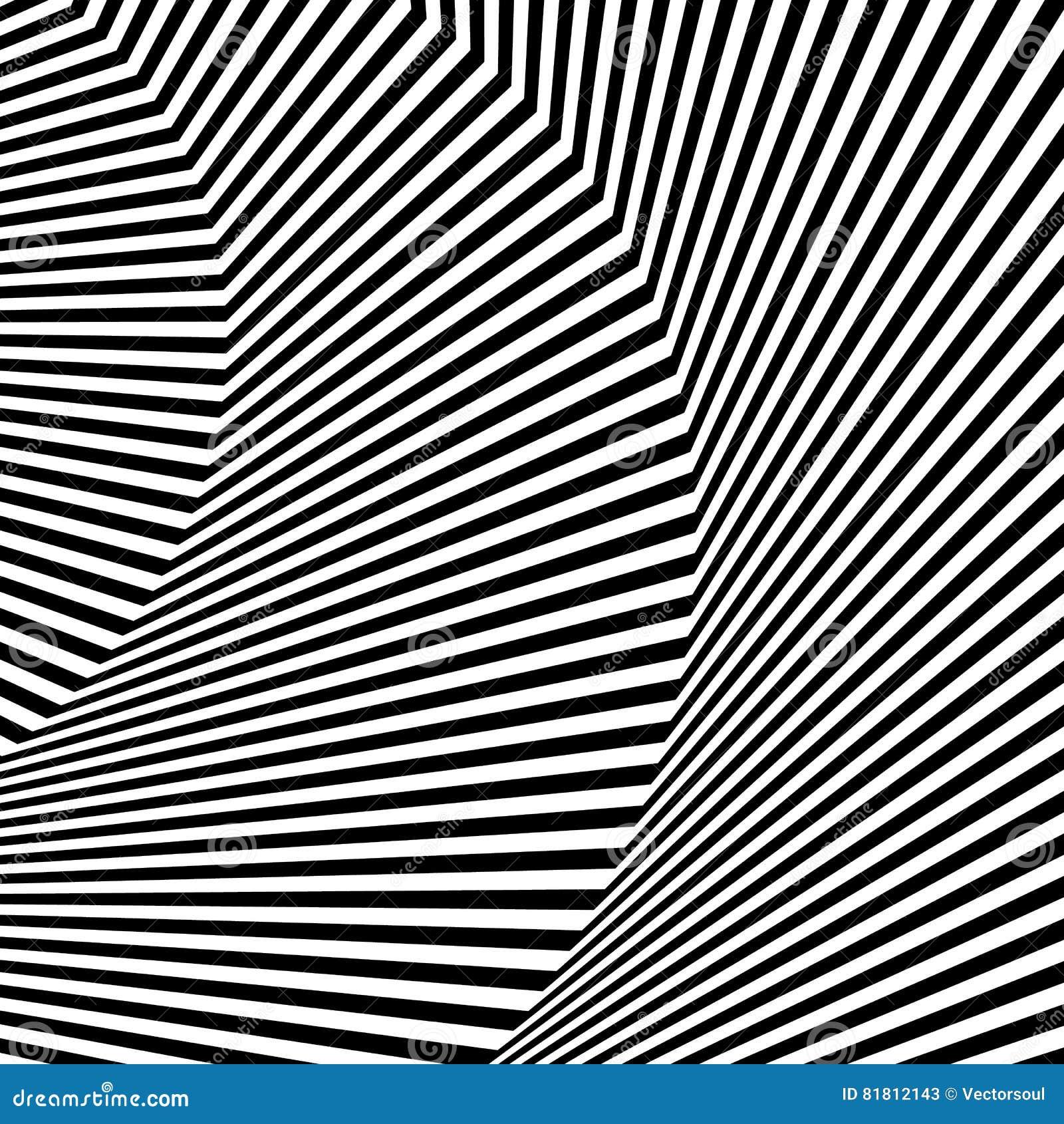 Волнистый, зигзаг выравнивается, выравнивается с искажением, заломом Monochrome PA