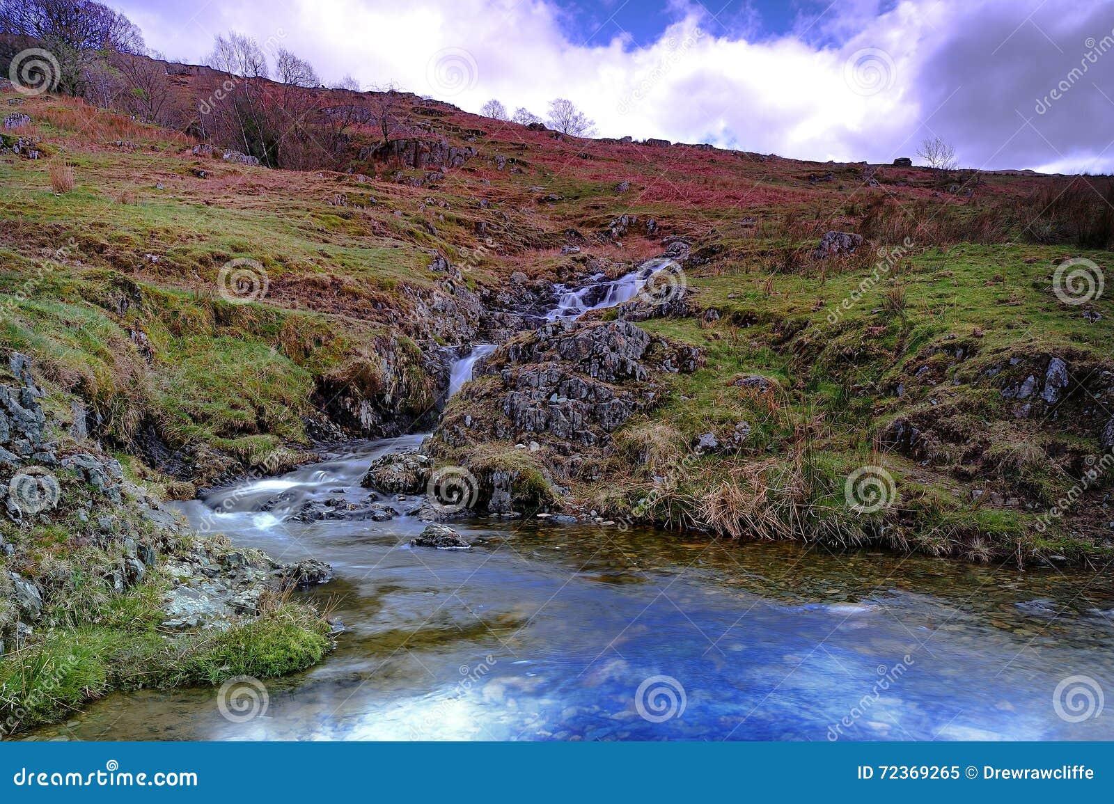 Водопады и поток