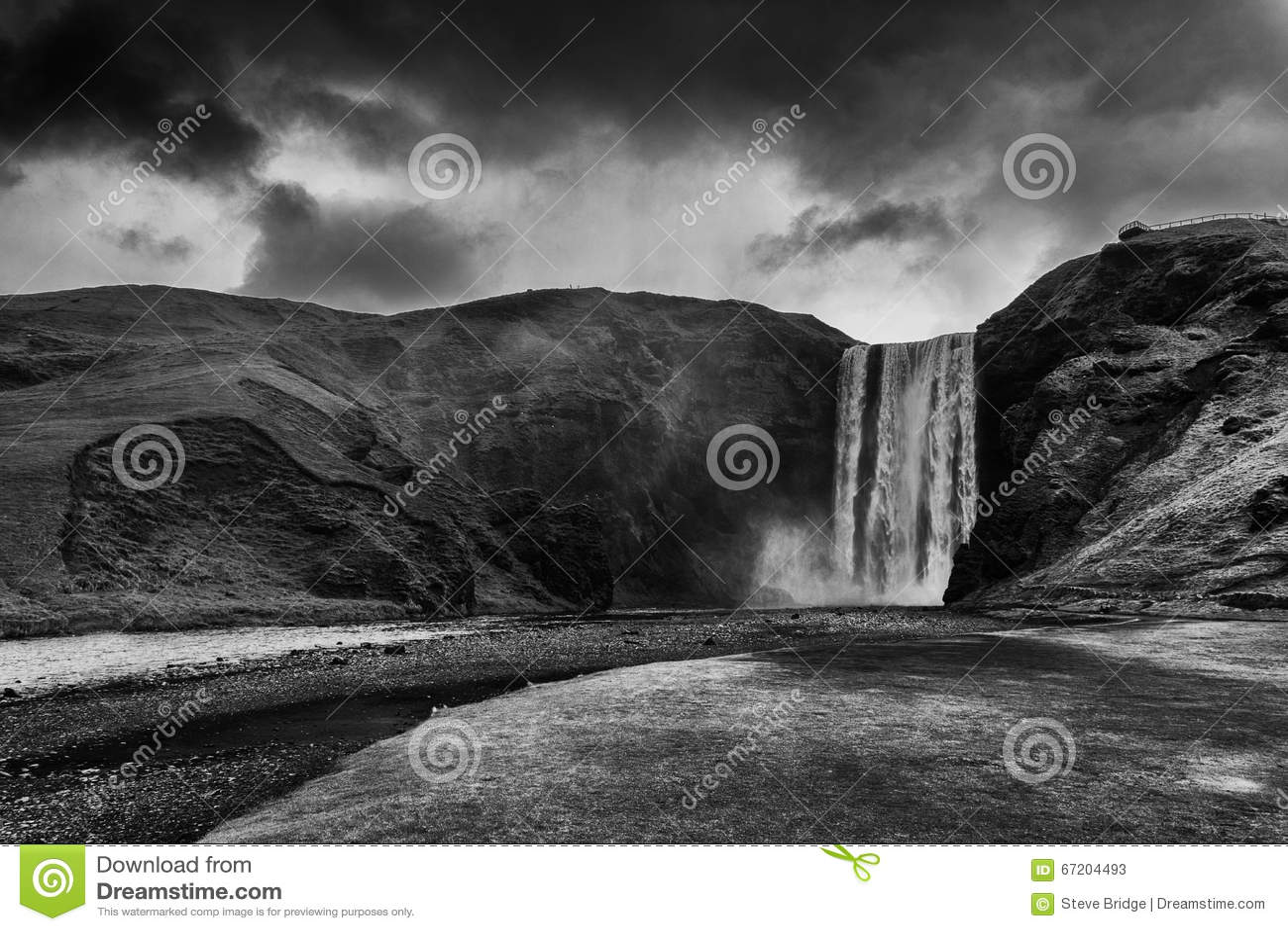 водопад skogafoss Исландии