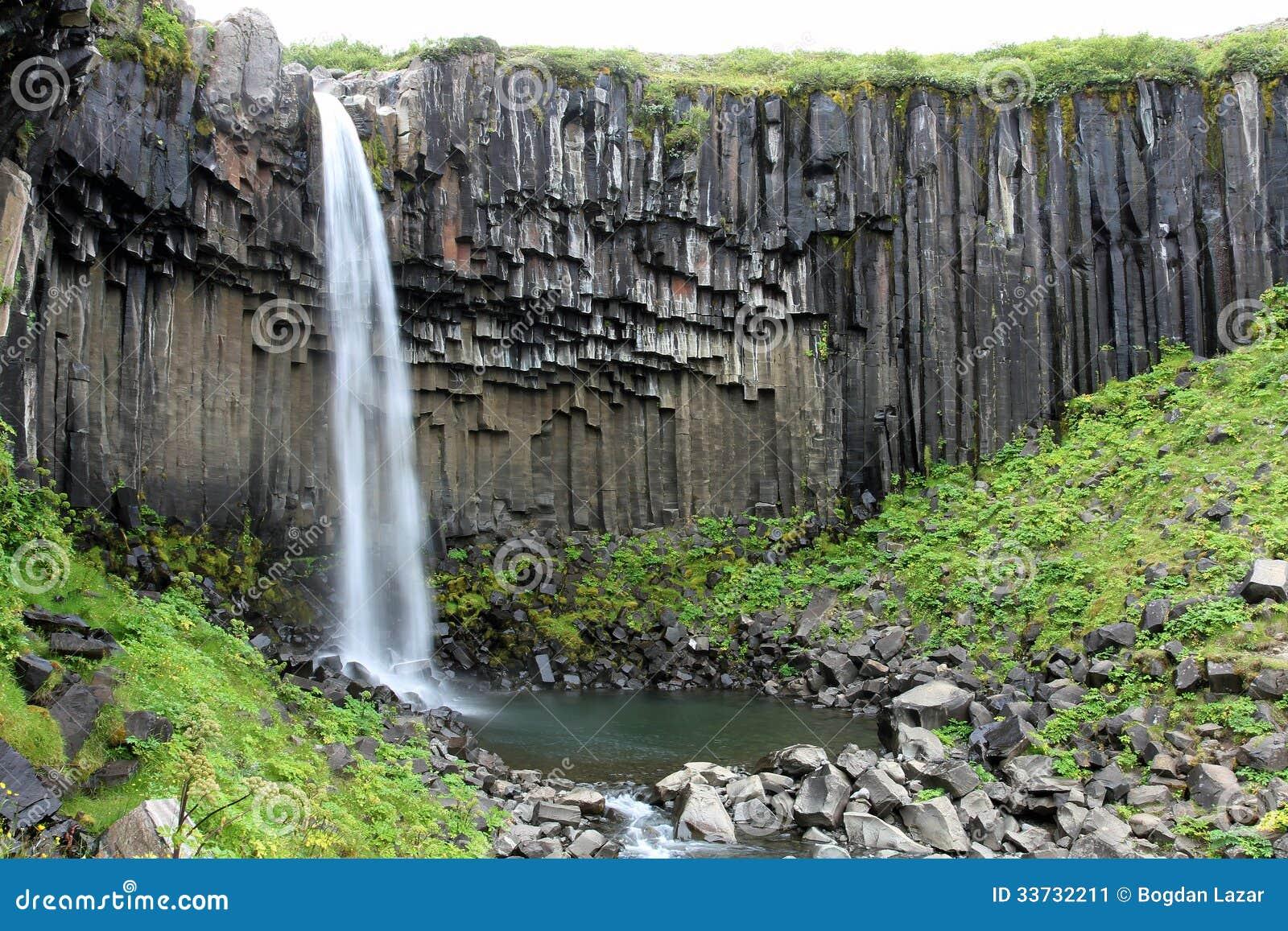 Водопад Svartifoss, Исландия