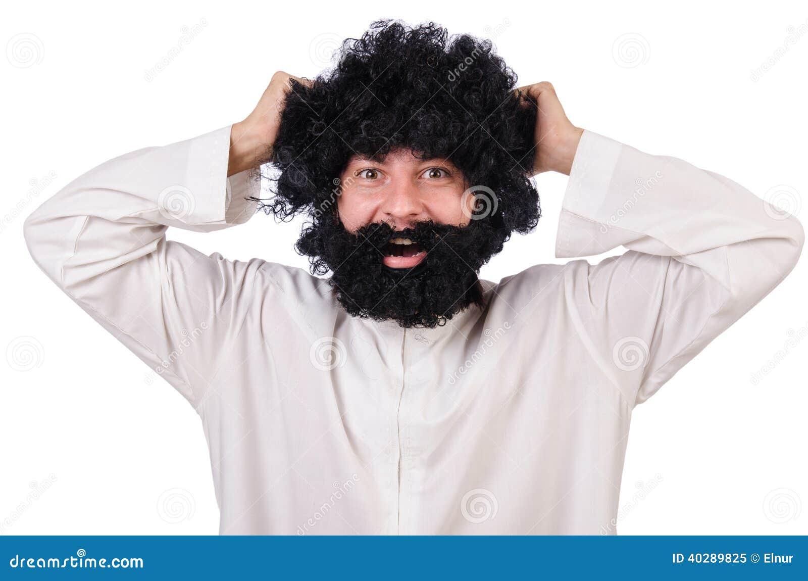 Волосатый смешной человек