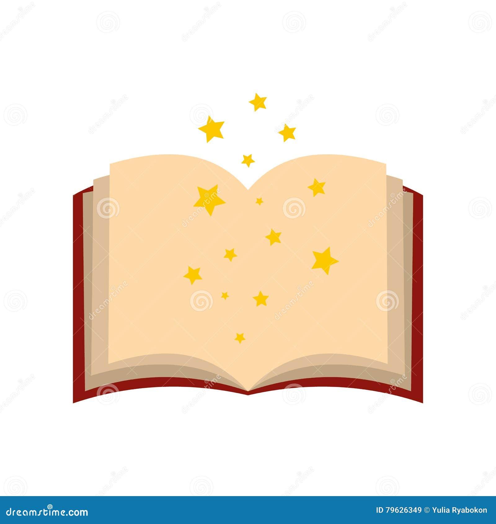 Волшебная книга произношений по буквам раскрывает плоско