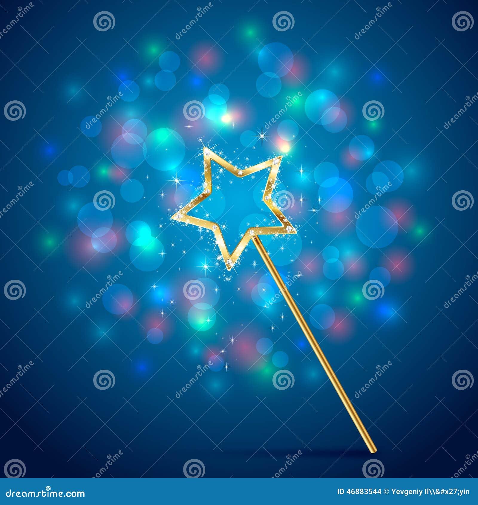 Волшебная палочка на голубой предпосылке