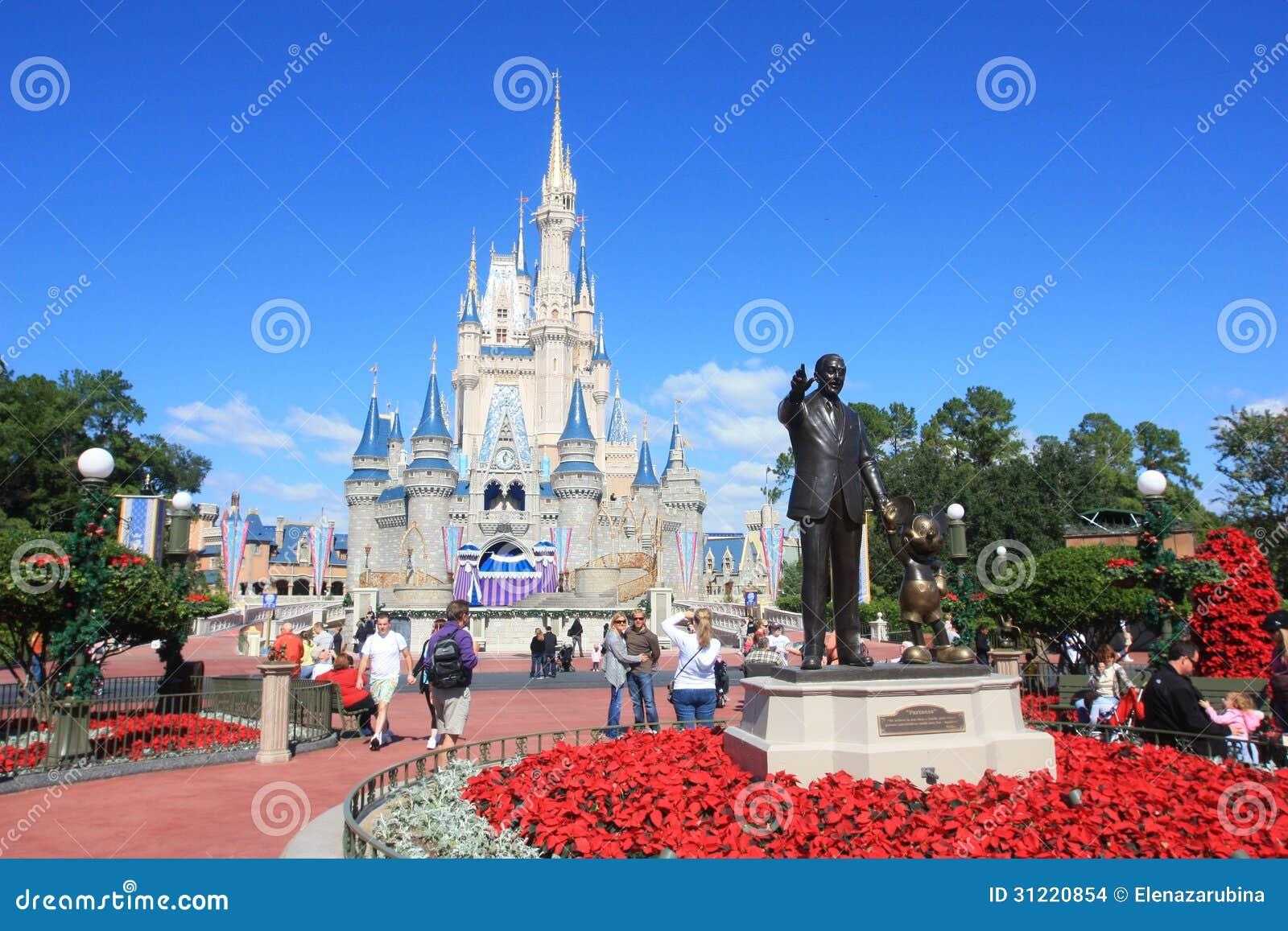 Волшебный замок королевства в мире Дисней в Орландо