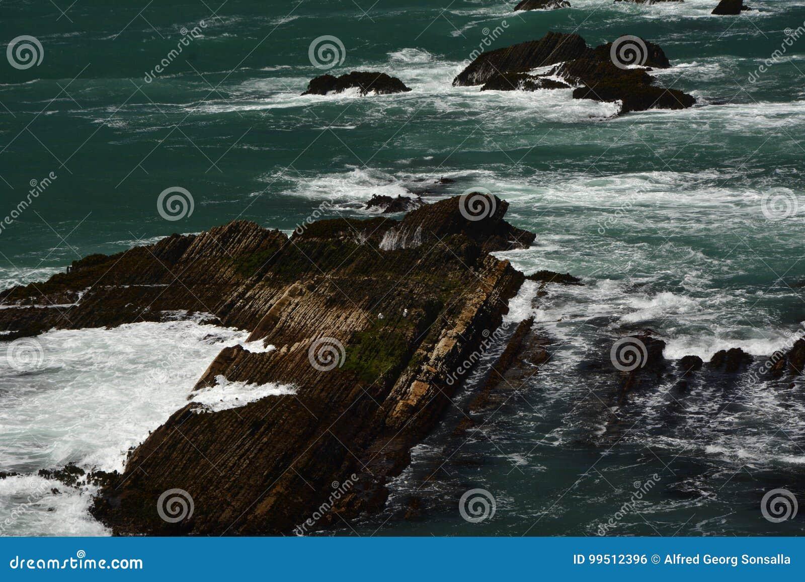 Впечатления Тихоокеанских побережиь света арены пункта, Калифорнии США