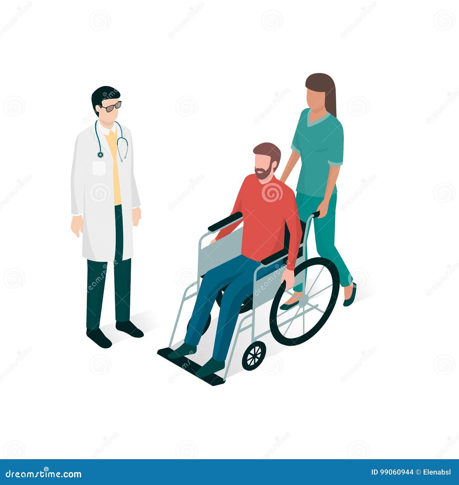 Врачуйте и вынянчите помощь человека на кресло-коляске