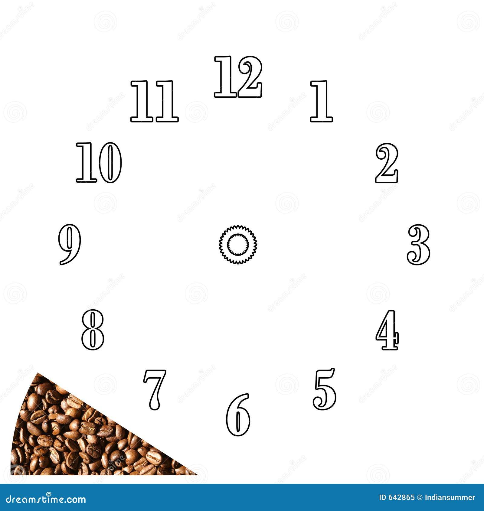 Download время восковки кофе часов иллюстрация штока. иллюстрации насчитывающей bearable - 642865
